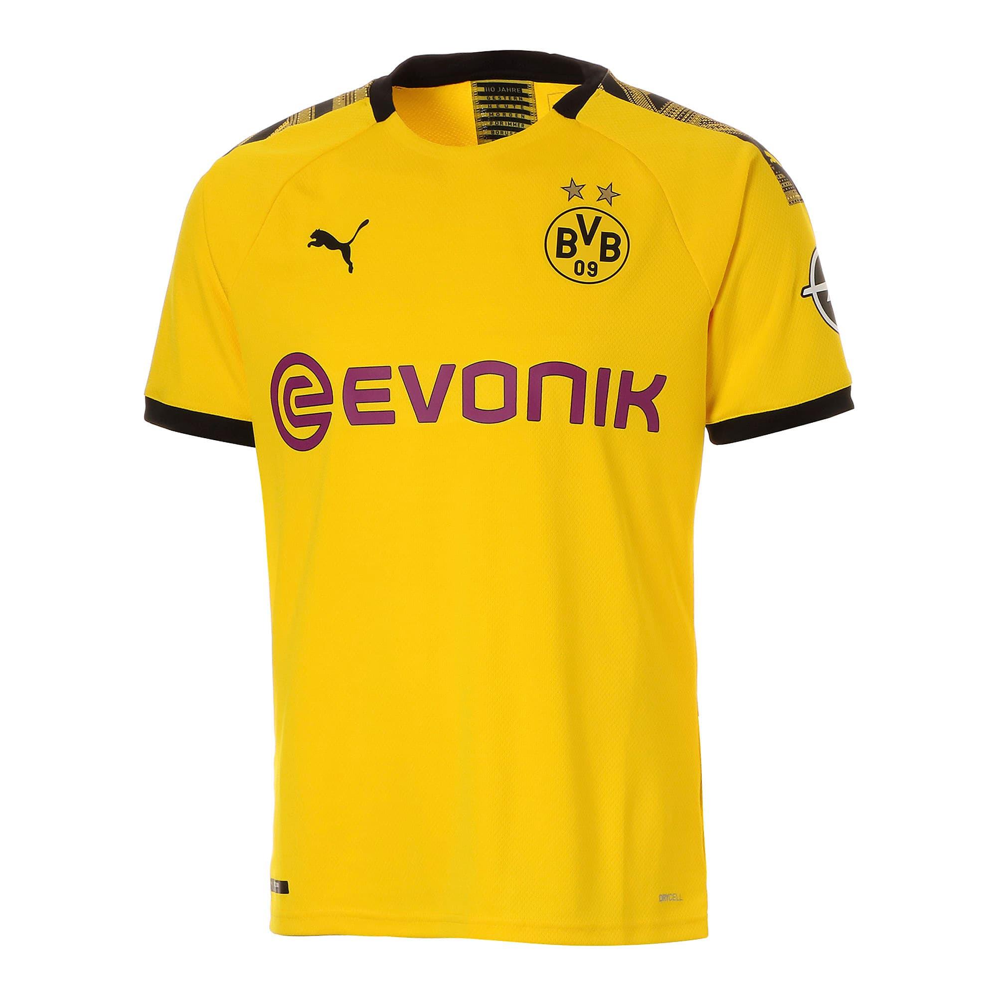 Thumbnail 1 of ドルトムント BVB SS ホーム オーセンティック シャツ 半袖, Cyber Yellow-Puma Black, medium-JPN
