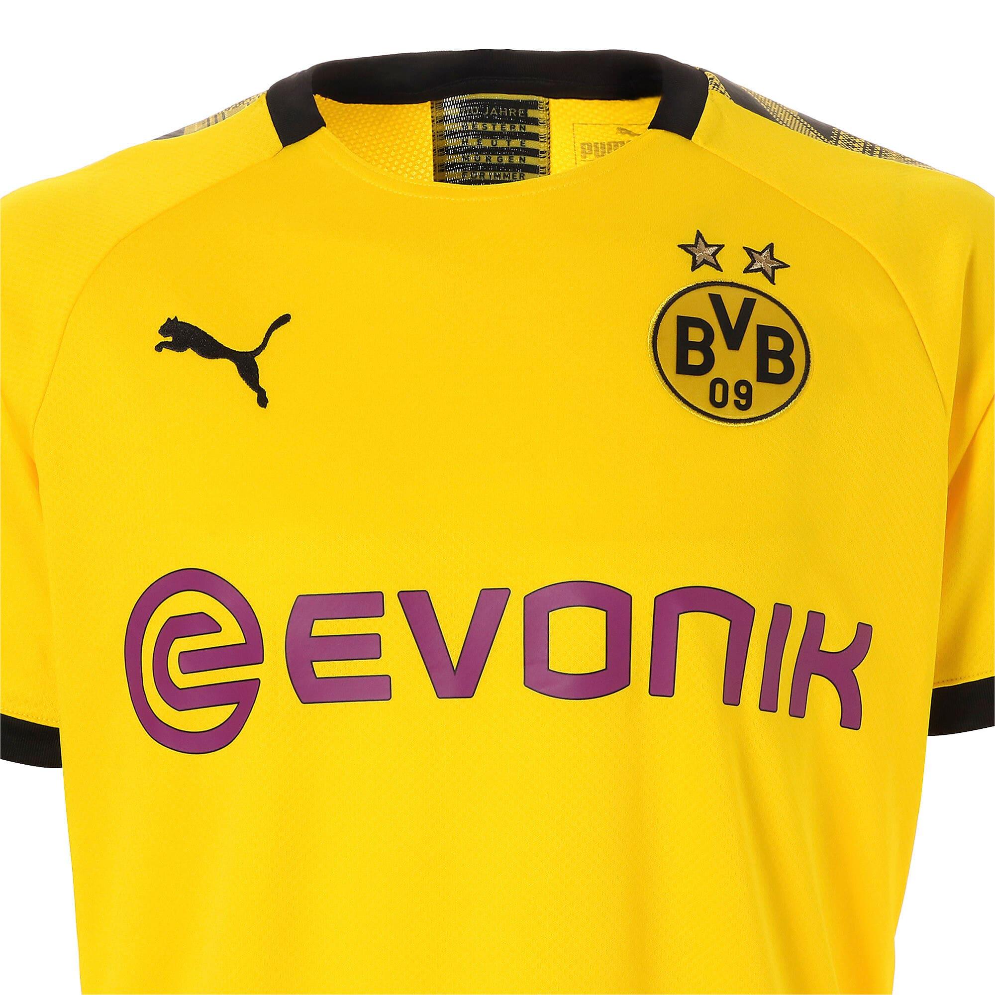 Thumbnail 7 of ドルトムント BVB SS ホーム レプリカシャツ 半袖, Cyber Yellow-Puma Black, medium-JPN
