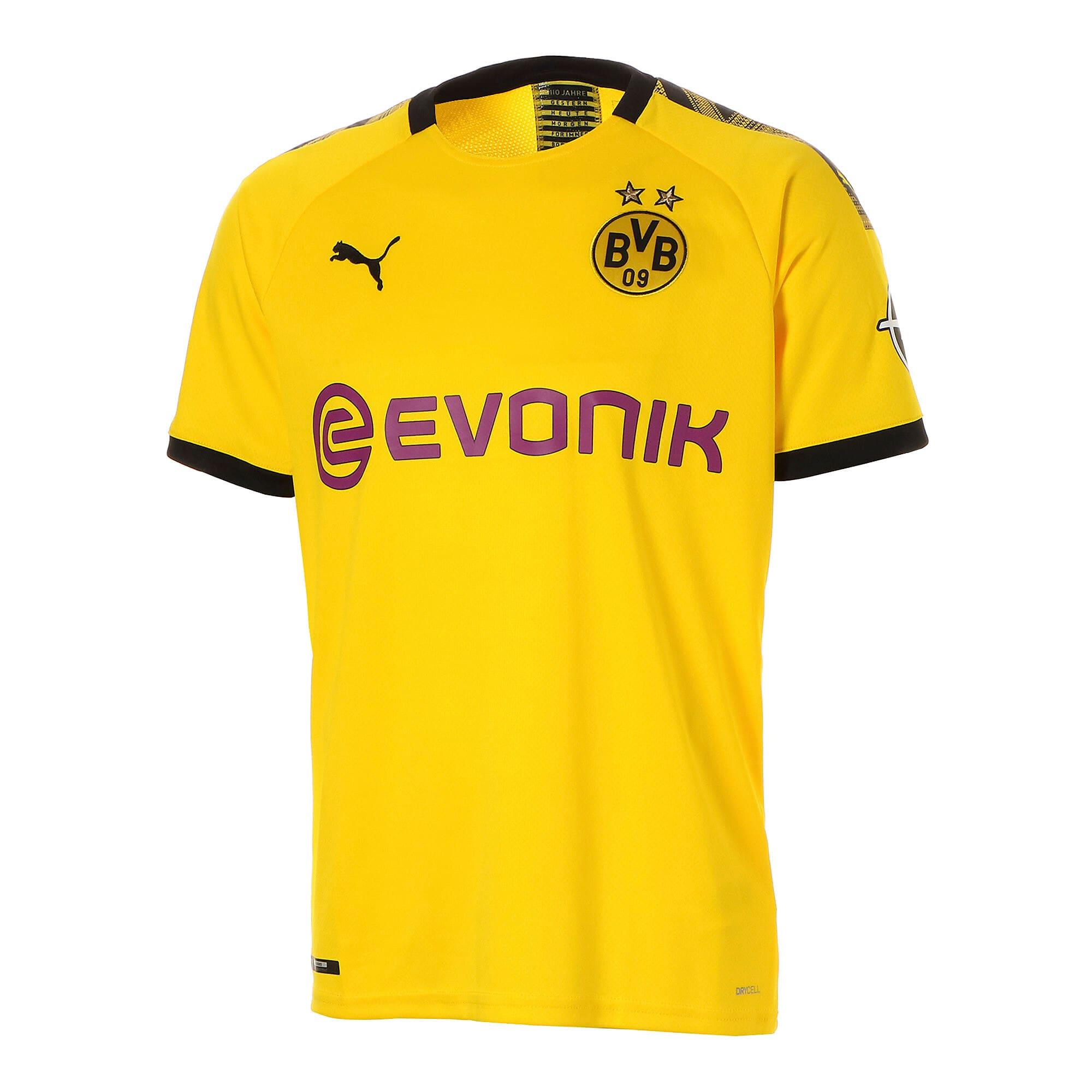 Thumbnail 1 of ドルトムント BVB SS ホーム レプリカシャツ 半袖, Cyber Yellow-Puma Black, medium-JPN