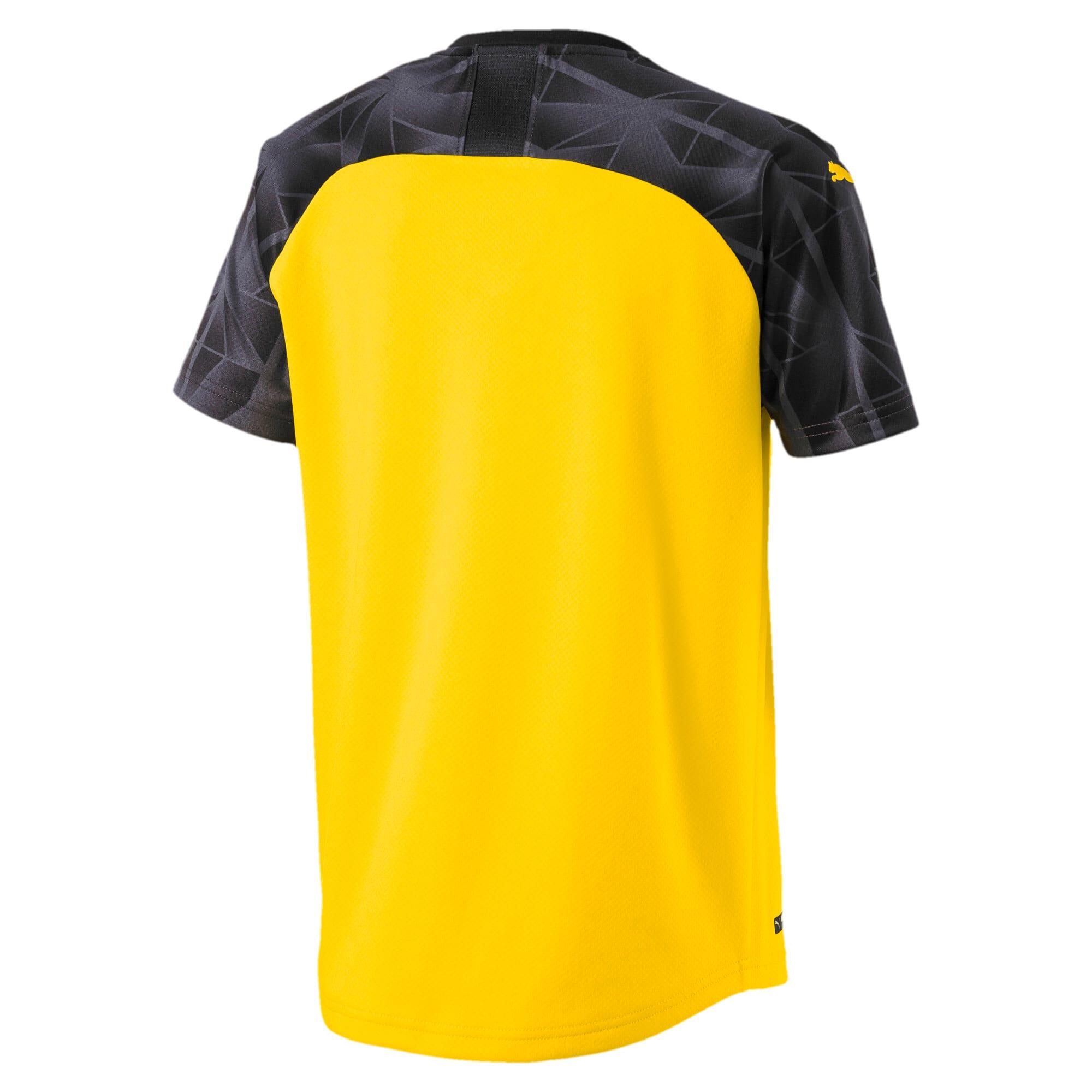 Thumbnail 2 of BVB Cup Boys' Replica Jersey, Cyber Yellow-Puma Black, medium