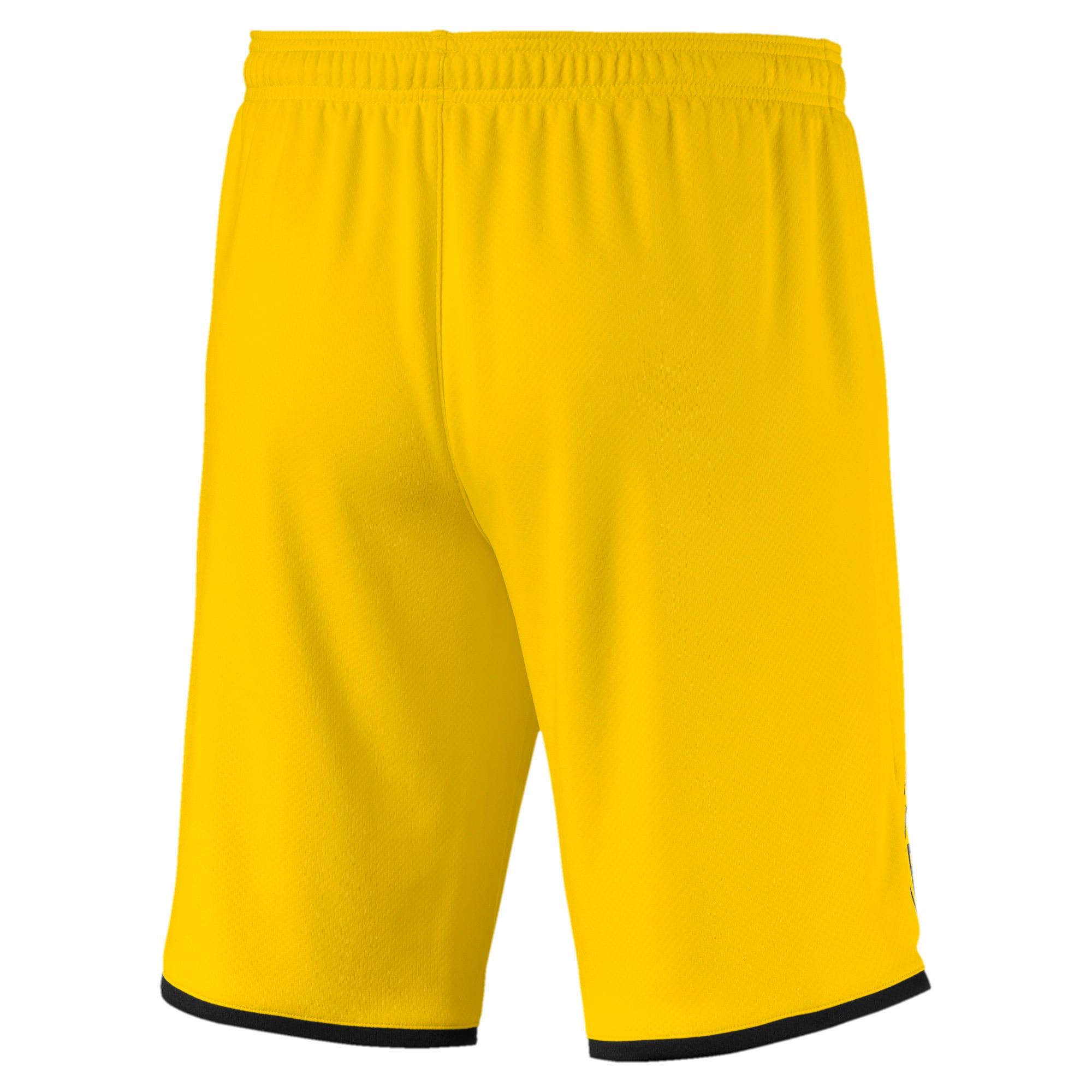 Thumbnail 2 of BVB Men's Away Replica Shorts, Cyber Yellow-Puma Black, medium
