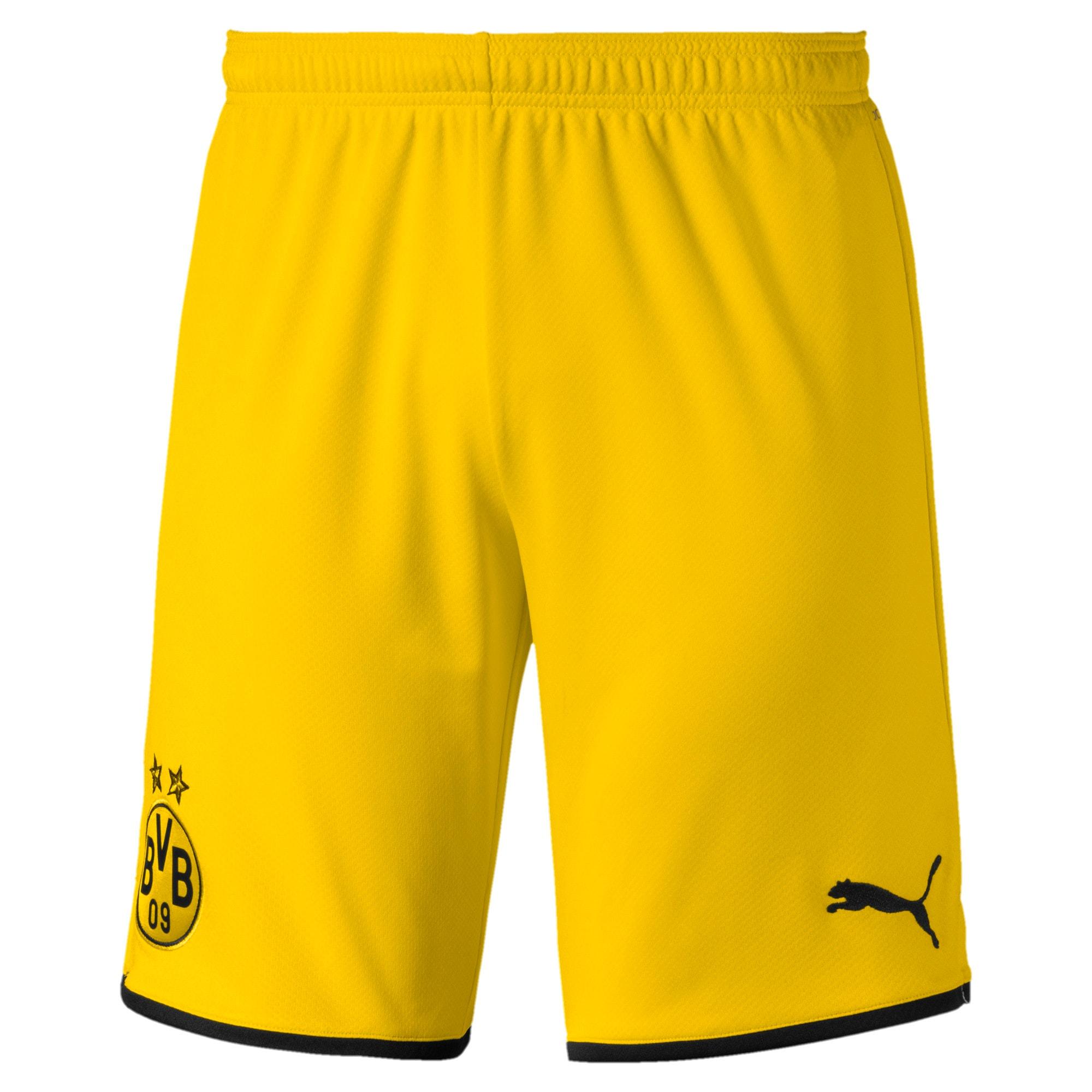 Thumbnail 1 of BVB Men's Away Replica Shorts, Cyber Yellow-Puma Black, medium