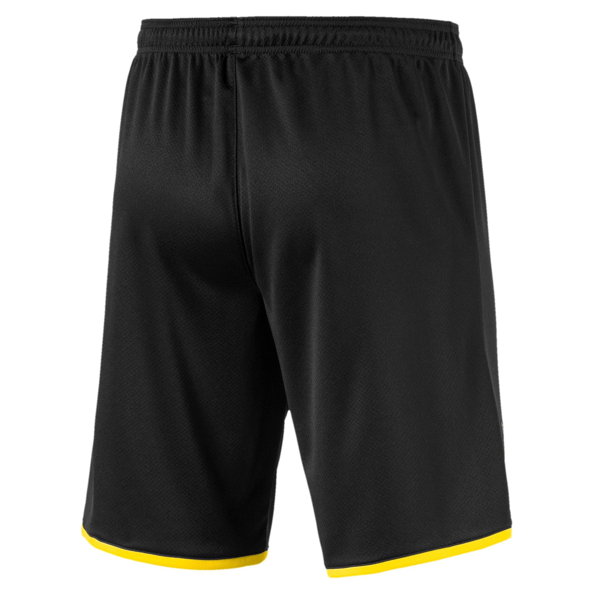Thumbnail 2 of BVB Men's Away Replica Shorts, Puma Black-Cyber Yellow, medium