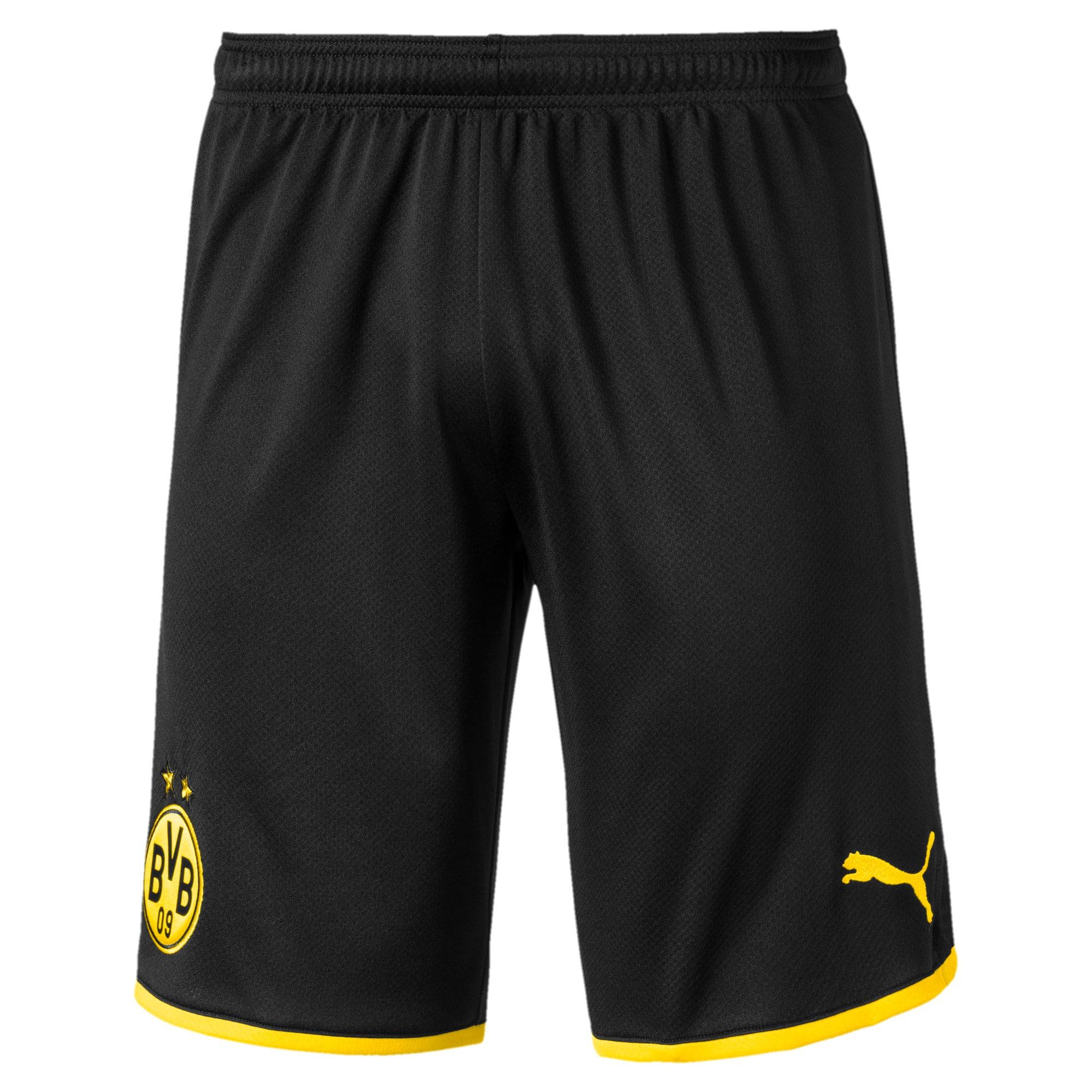 Thumbnail 1 of BVB Men's Away Replica Shorts, Puma Black-Cyber Yellow, medium