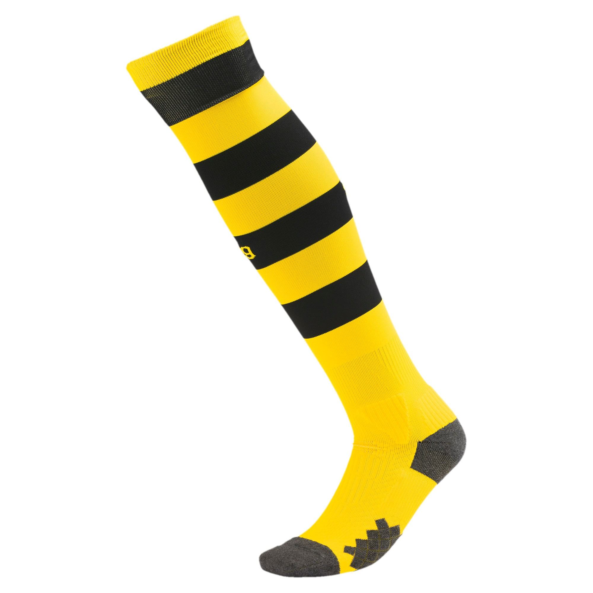 Thumbnail 1 of BVB Herren Gestreifte Socken, Cyber Yellow-Puma Black, medium