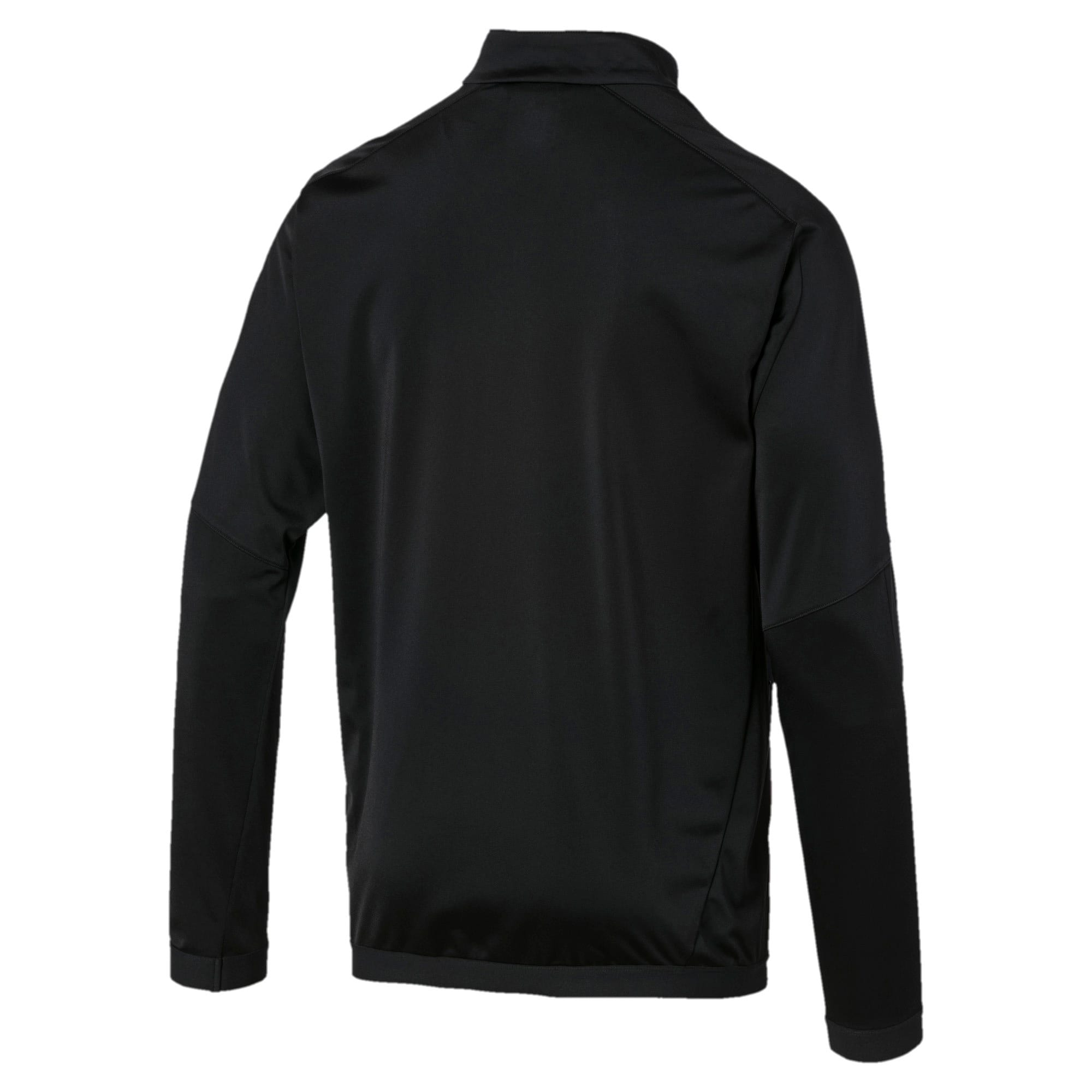 Thumbnail 2 of BVB Men's International Stadium Jacket, Puma Black-Cyber Yellow, medium