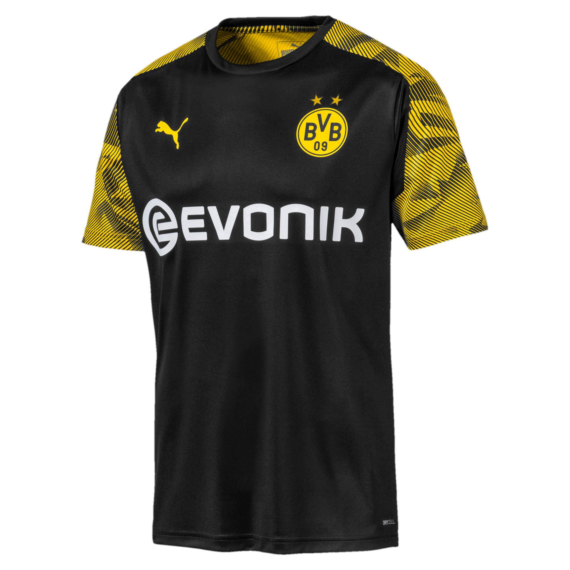 Thumbnail 4 of BVB Men's Training Jersey, Puma Black-Cyber Yellow, medium