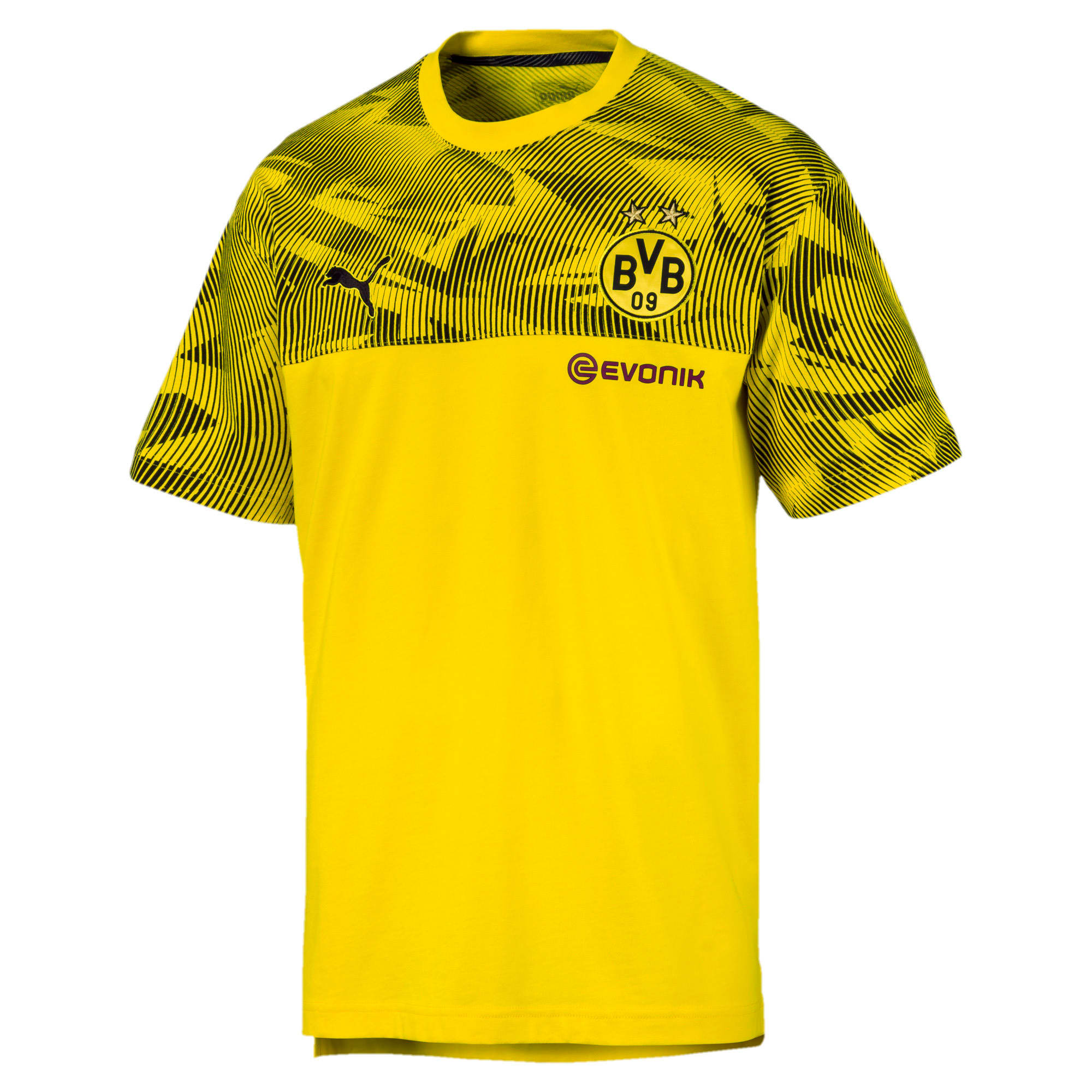 Thumbnail 4 of BVB Casuals Men's Tee, Cyber Yellow-Puma Black, medium