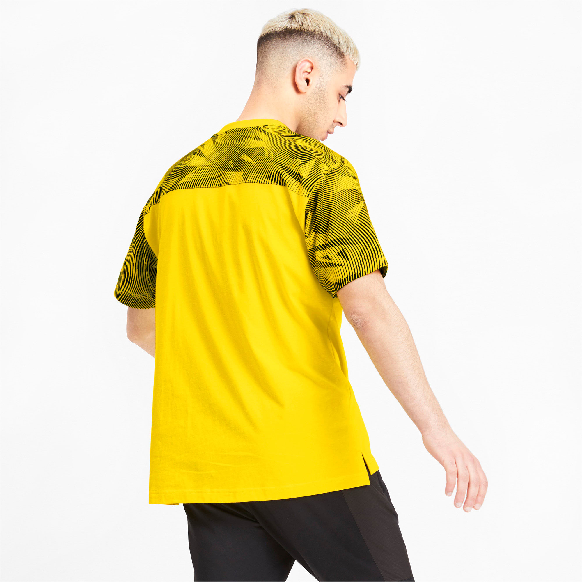 Thumbnail 2 of BVB Casuals Men's Tee, Cyber Yellow-Puma Black, medium