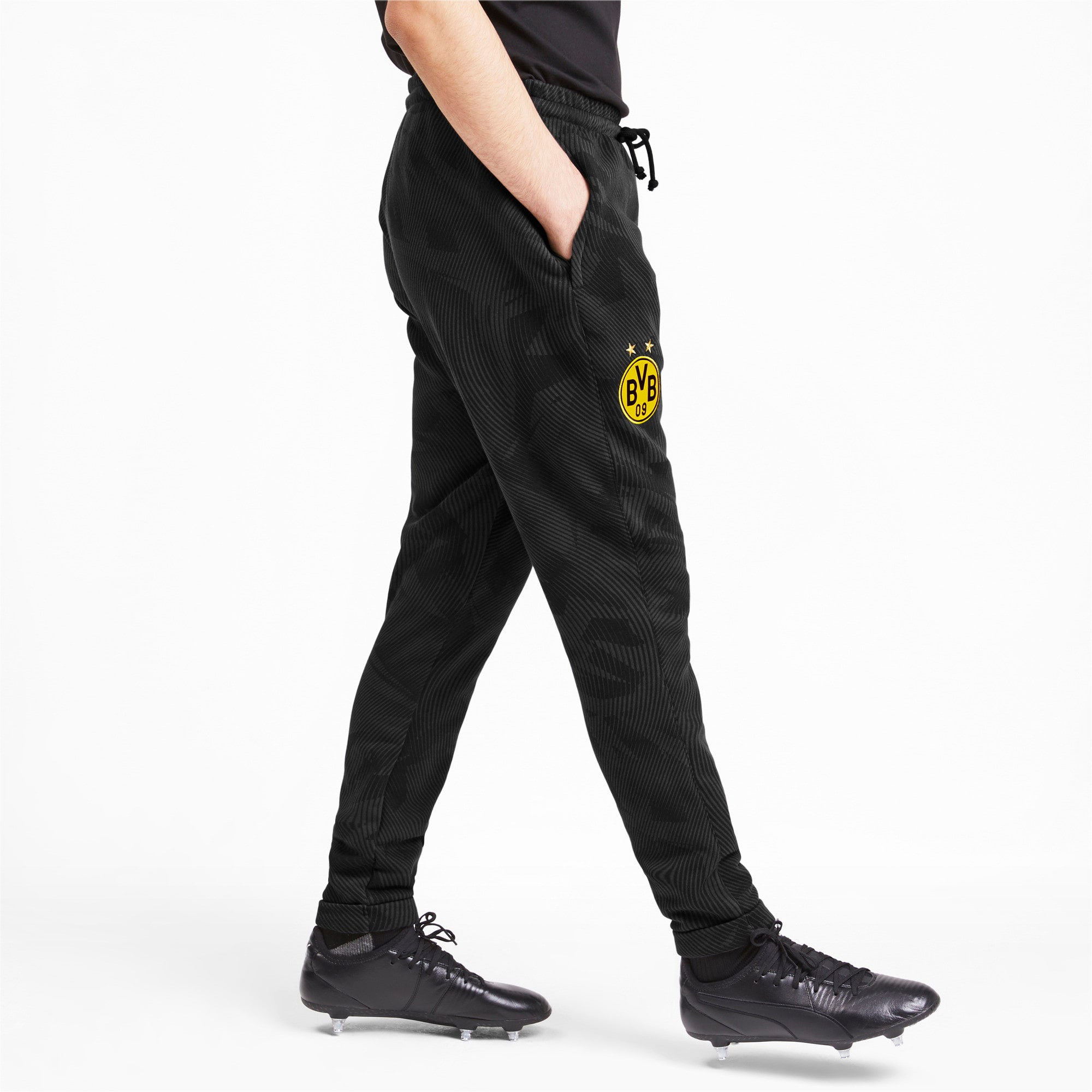 Thumbnail 1 of BVB Men's Casual Pants, Puma Black-Phantom Black, medium