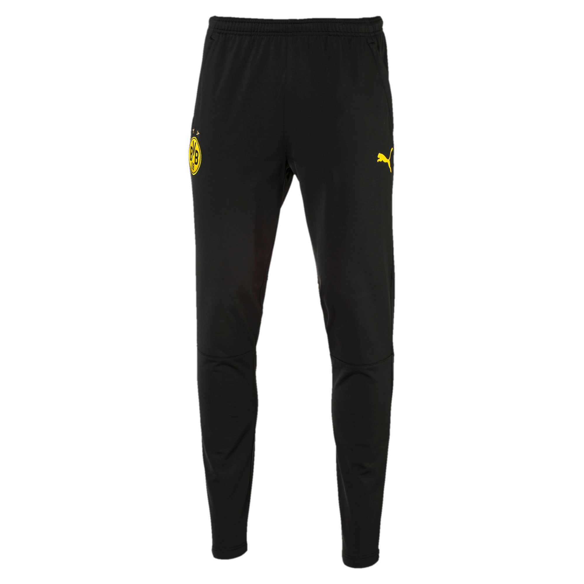 Thumbnail 4 of ドルトムント BVB トレーニング パンツ, Puma Black-Cyber Yellow, medium-JPN