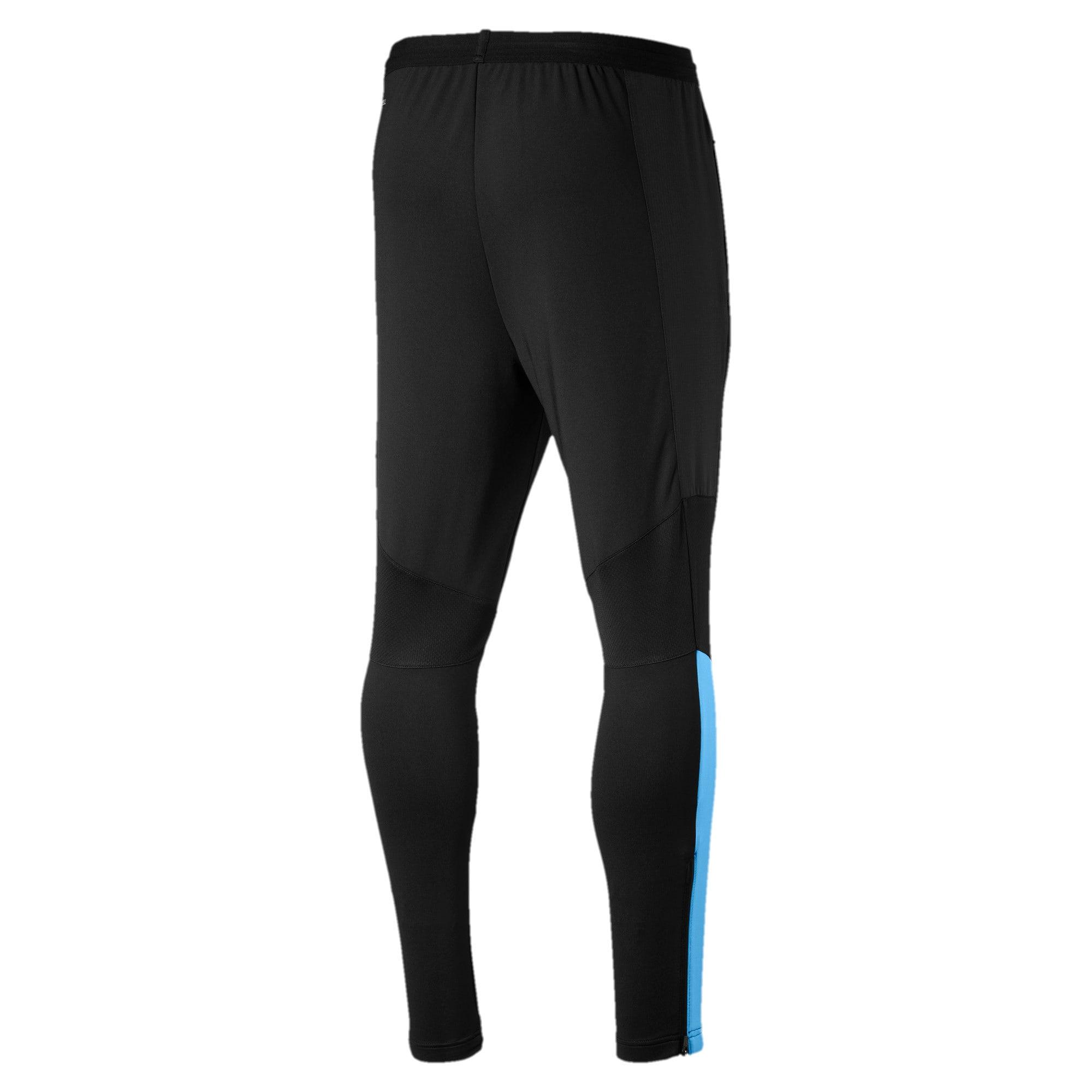 Thumbnail 2 of Manchester City FC Men's Pro Training Pants, Puma Black-Team Light Blue, medium