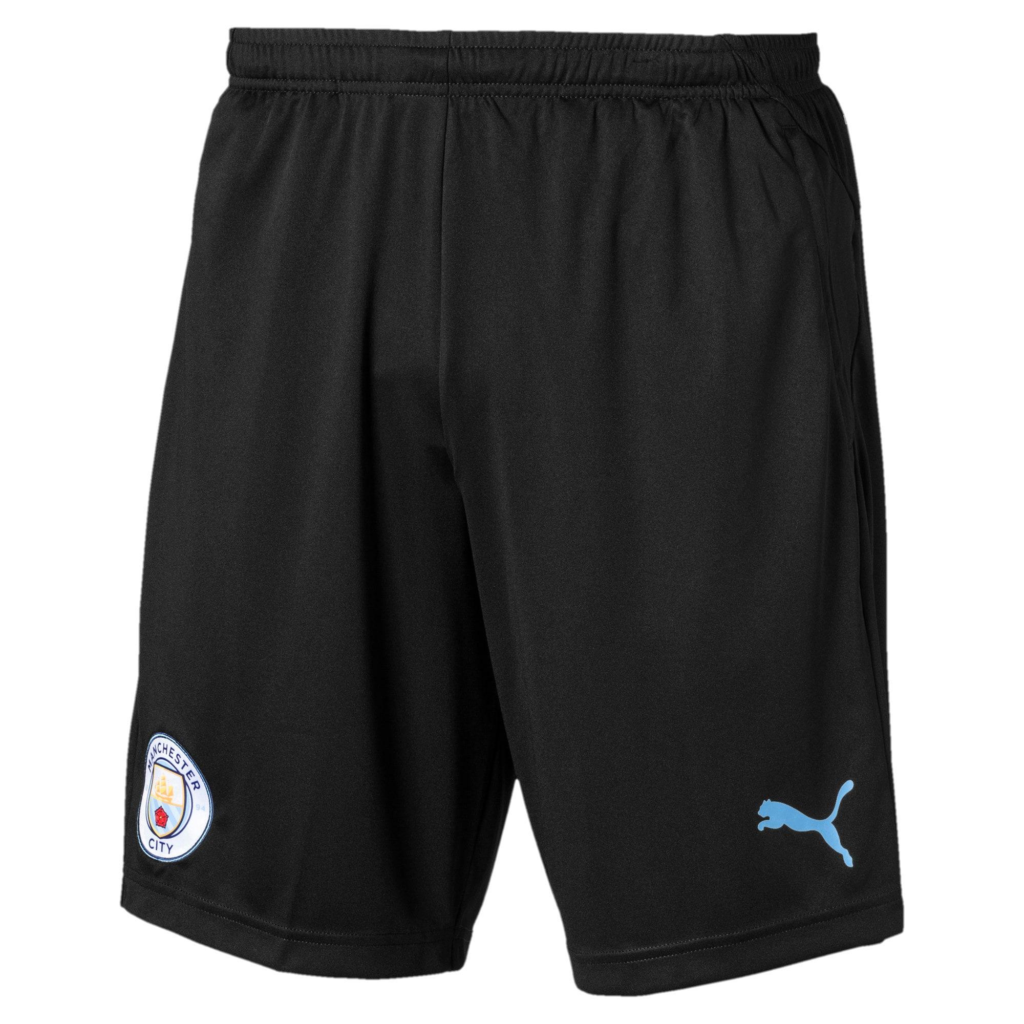 Thumbnail 4 of Manchester City FC Men's Training Shorts, Puma Black-Team Light Blue, medium