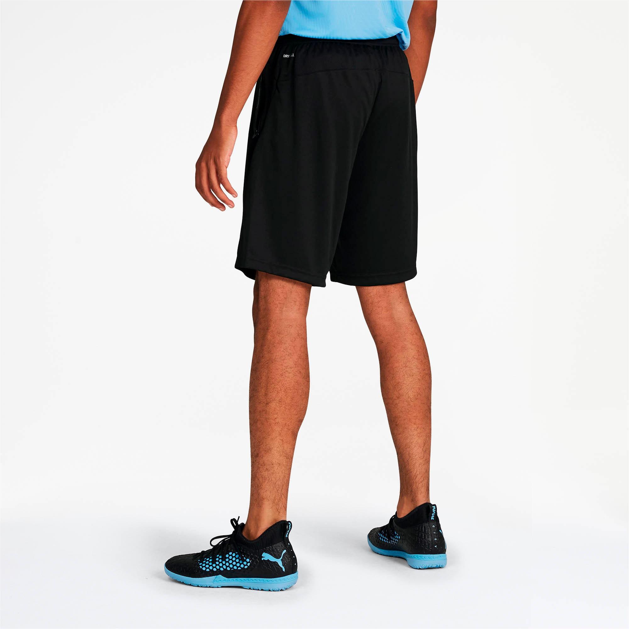 Thumbnail 2 of Manchester City FC Men's Training Shorts, Puma Black-Team Light Blue, medium
