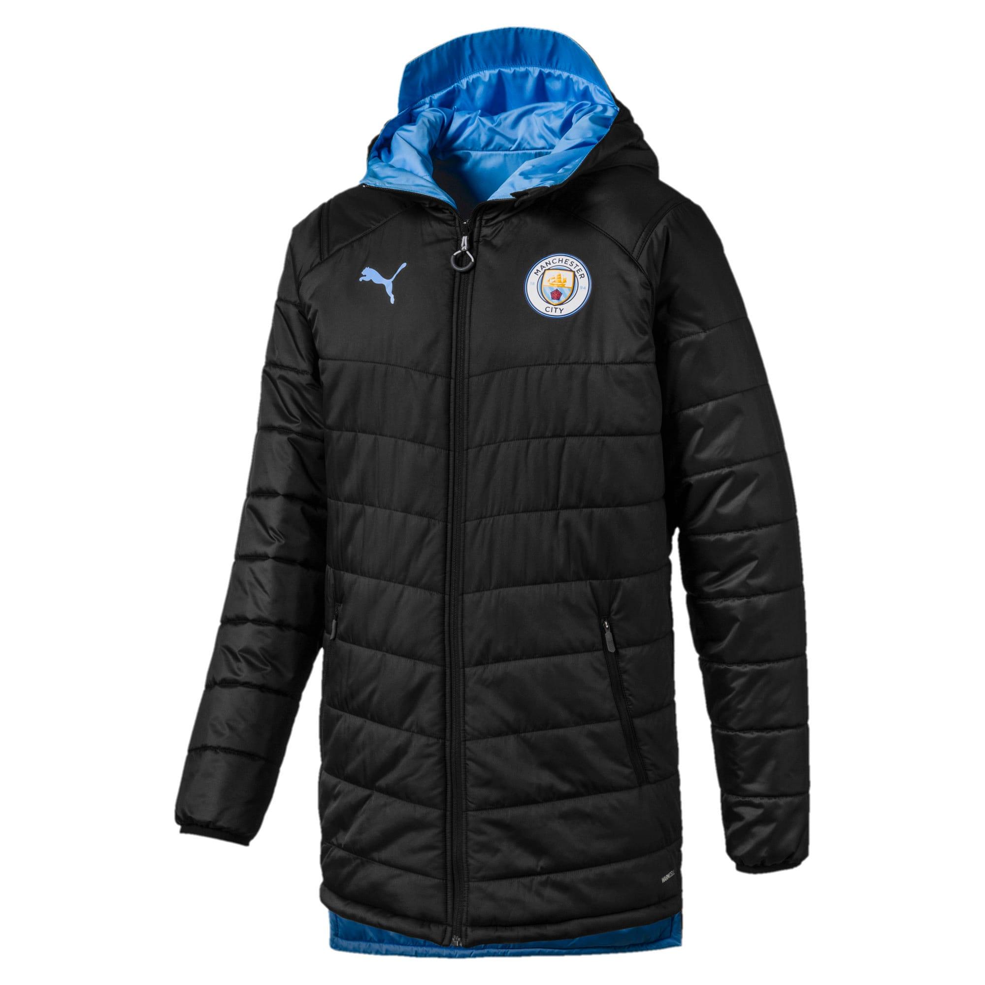 Thumbnail 1 of Manchester City Bench Herren Replica Wendejacke, Puma Black-Team Light Blue, medium