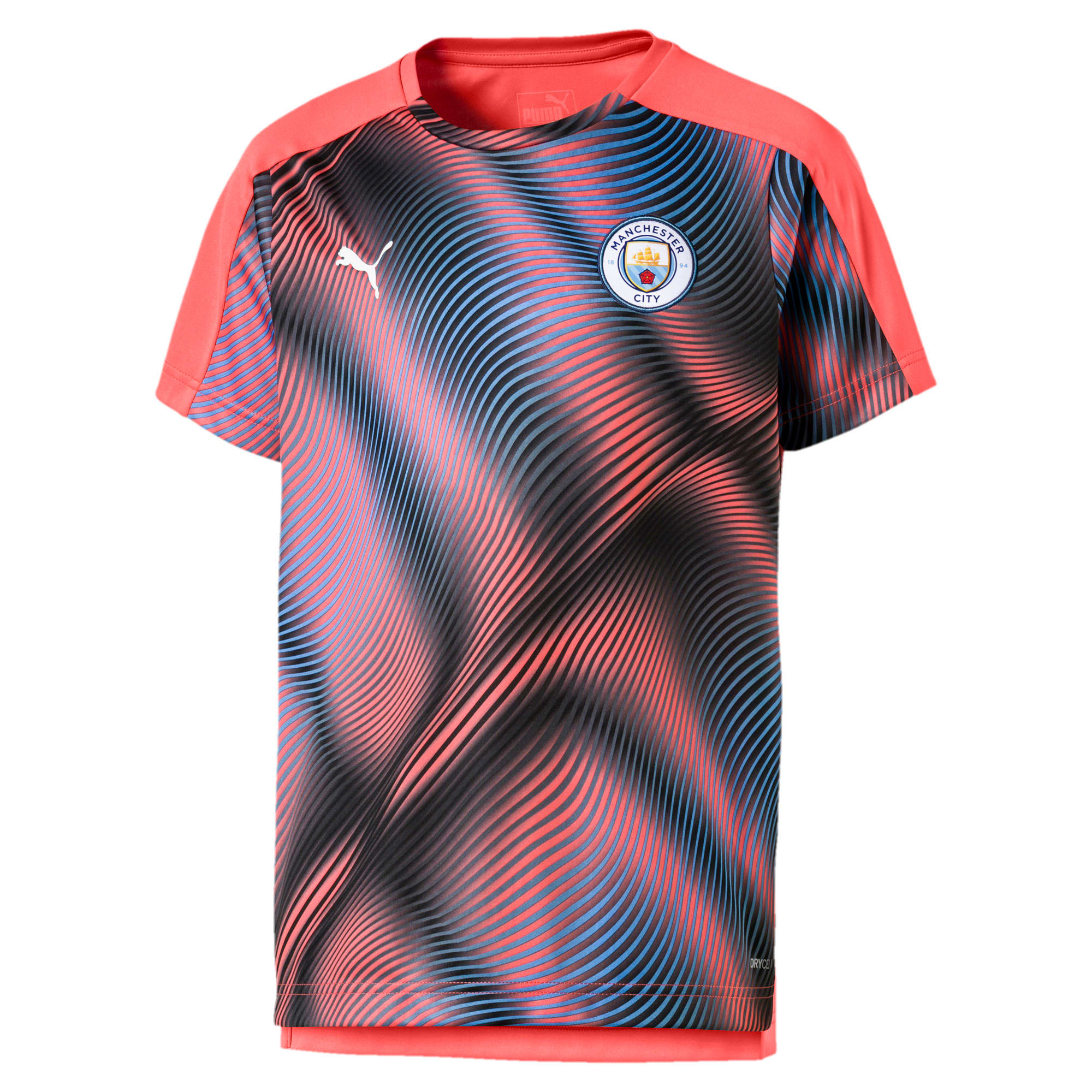 Thumbnail 1 of Man City Stadium League Kids' Jersey, Georgia Peach-Puma Black, medium