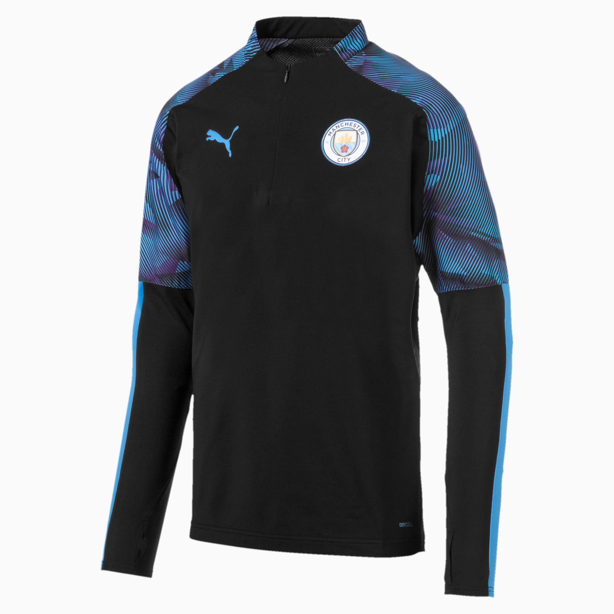 oscuro Vacilar télex  Manchester City FC Quarter Zip Men's Top | Puma Black-Team Light ...
