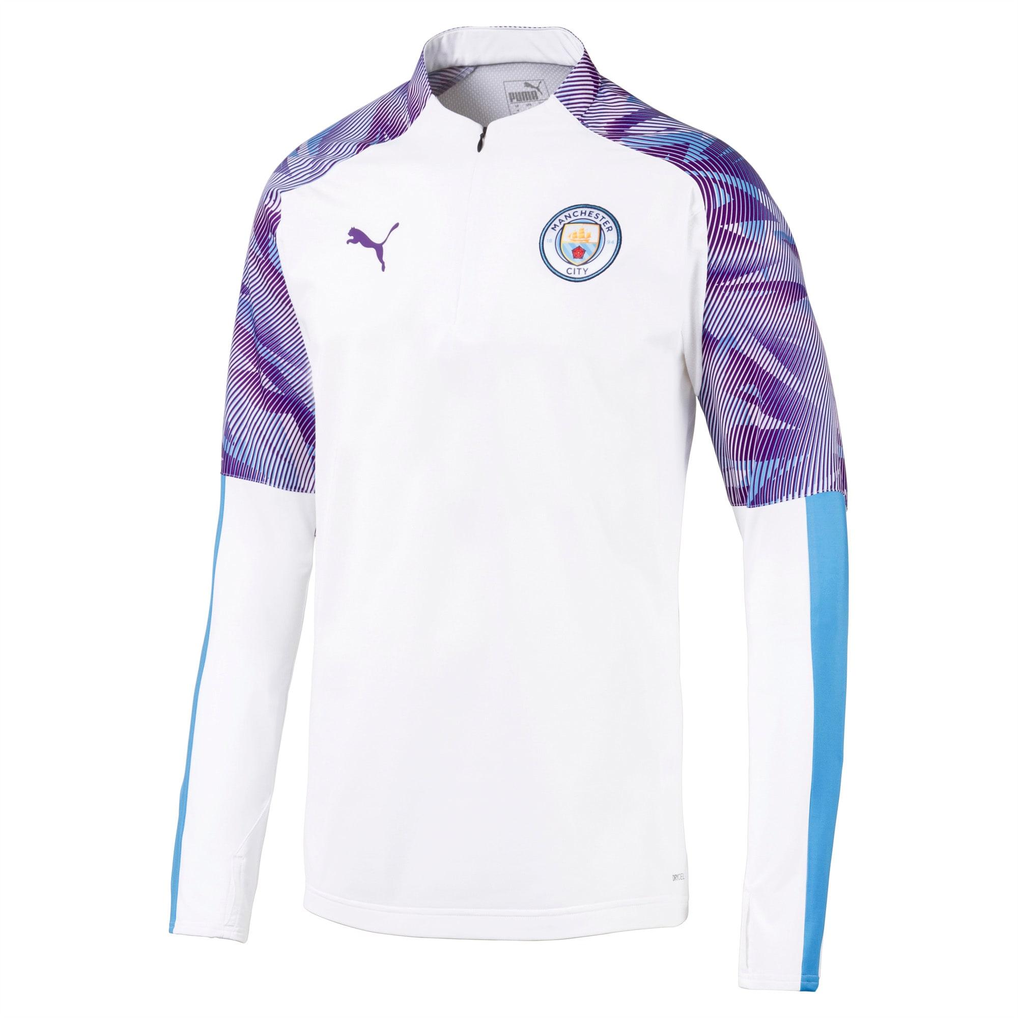 Top con zip a tre quarti Manchester City FC uomo