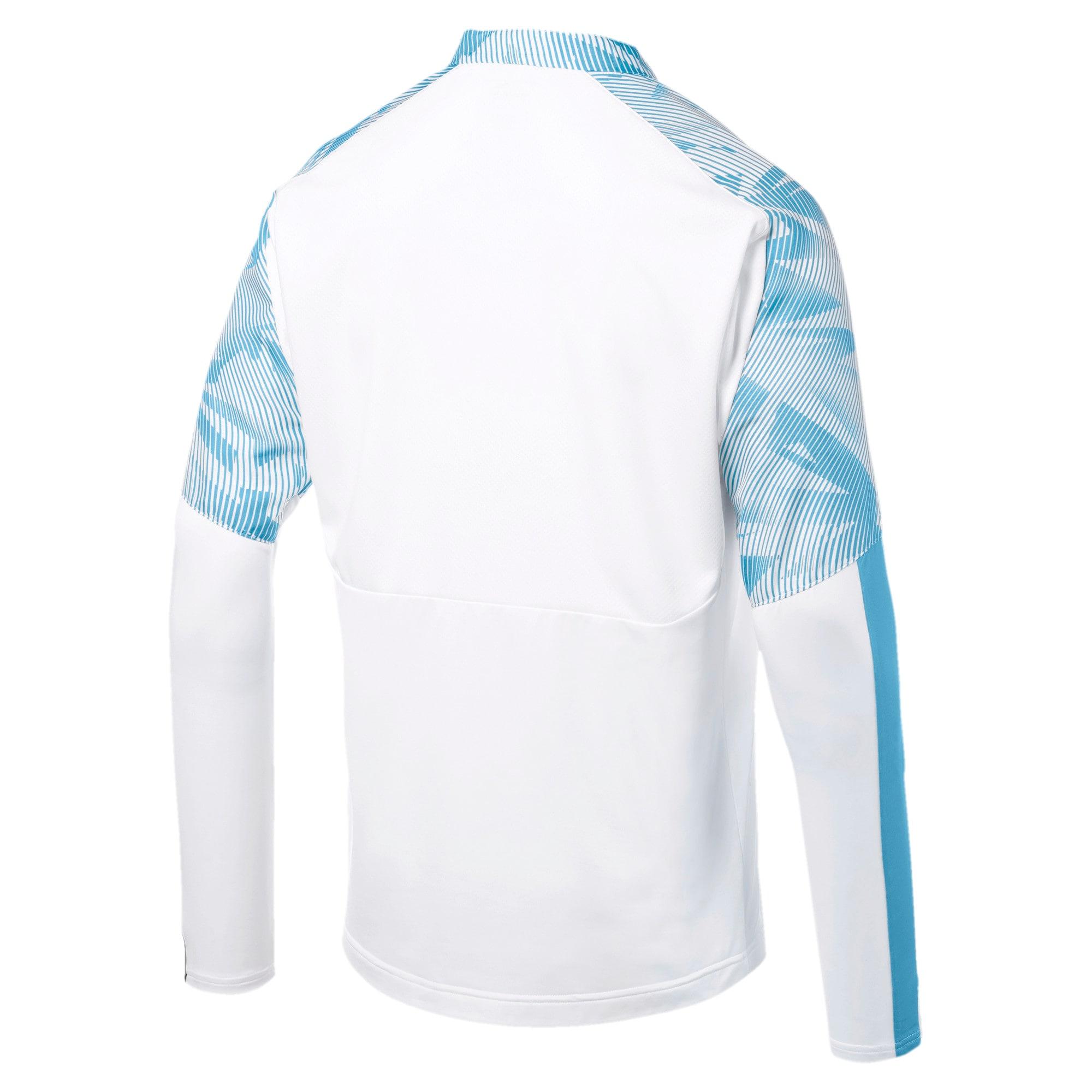 Thumbnail 5 of Olympique de Marseille Quarter Zip Men's Training Top, Puma White, medium