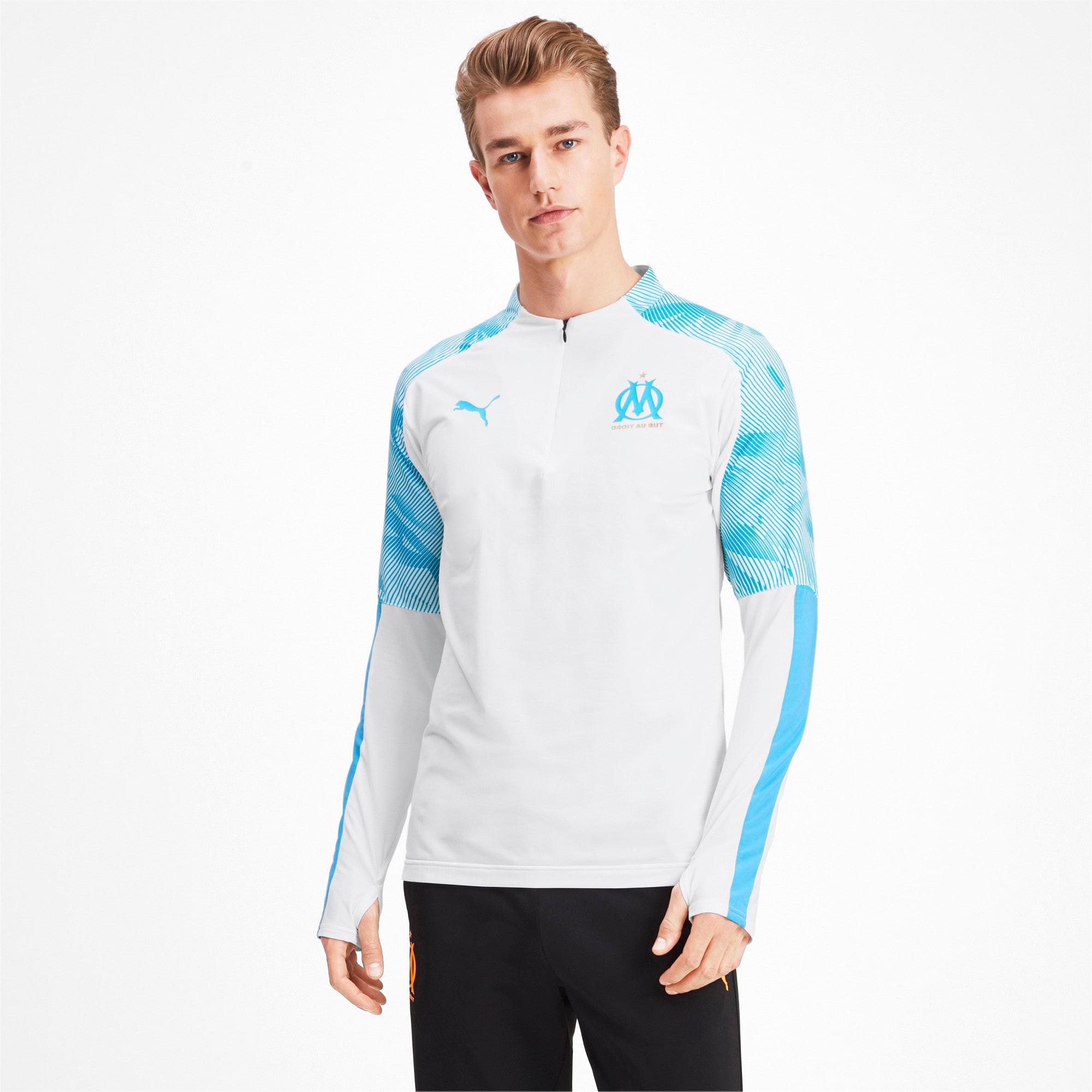 Thumbnail 1 of Olympique de Marseille Quarter Zip Men's Training Top, Puma White, medium