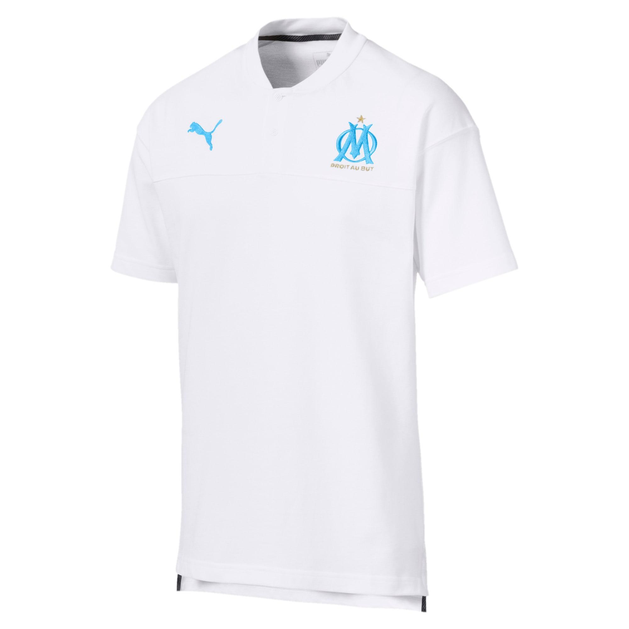 Thumbnail 4 of Olympique de Marseille Casuals poloshirt voor heren, Puma White-Bleu Azur, medium