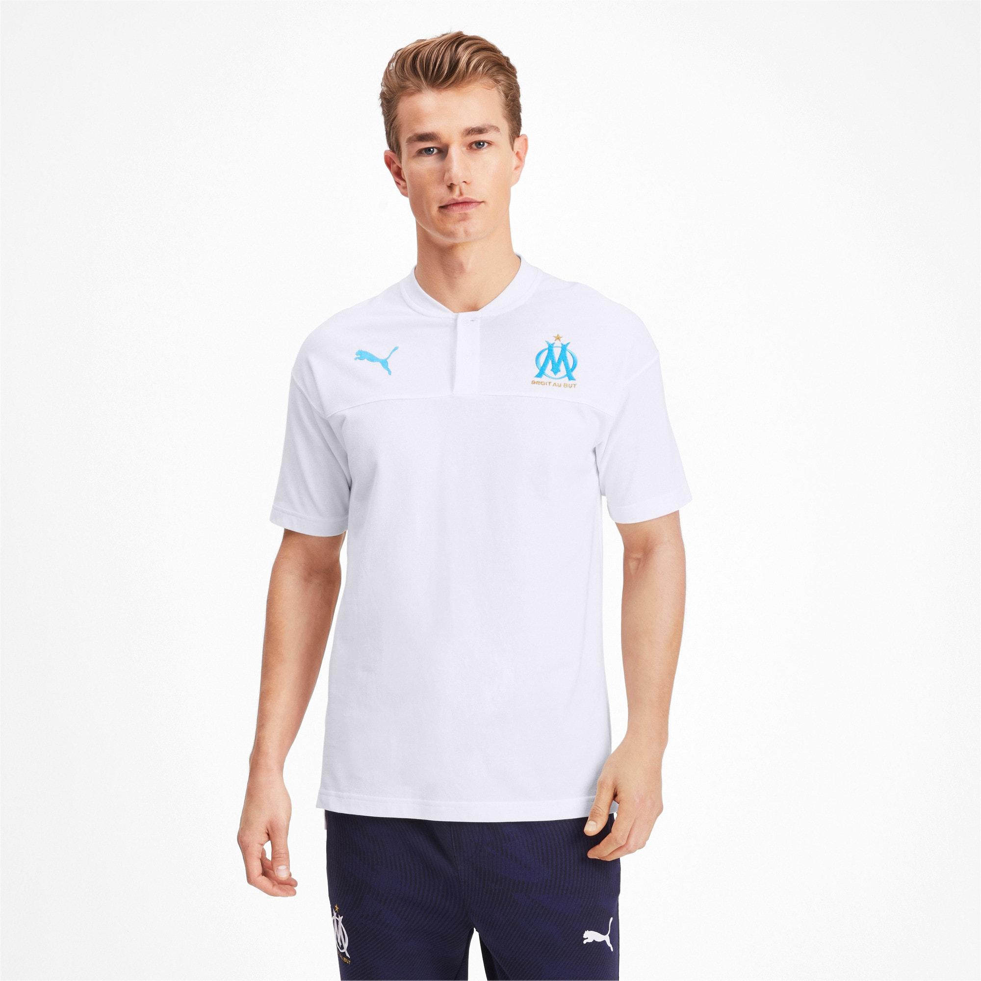 Thumbnail 1 of Olympique de Marseille Casuals poloshirt voor heren, Puma White-Bleu Azur, medium