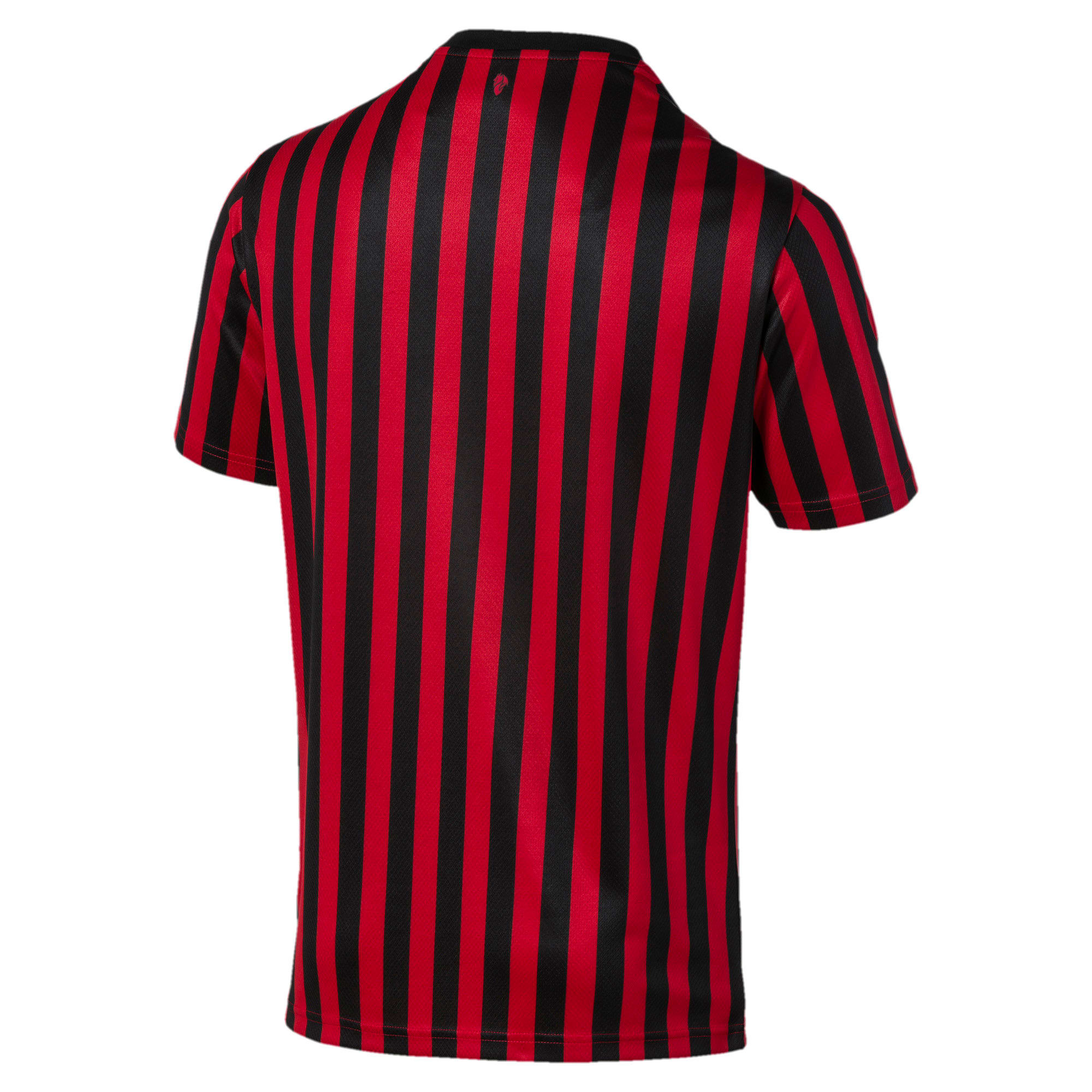 Thumbnail 2 of AC Milan Home Authentic Short Sleeve Men's Jersey, Tango Red -Puma Black, medium