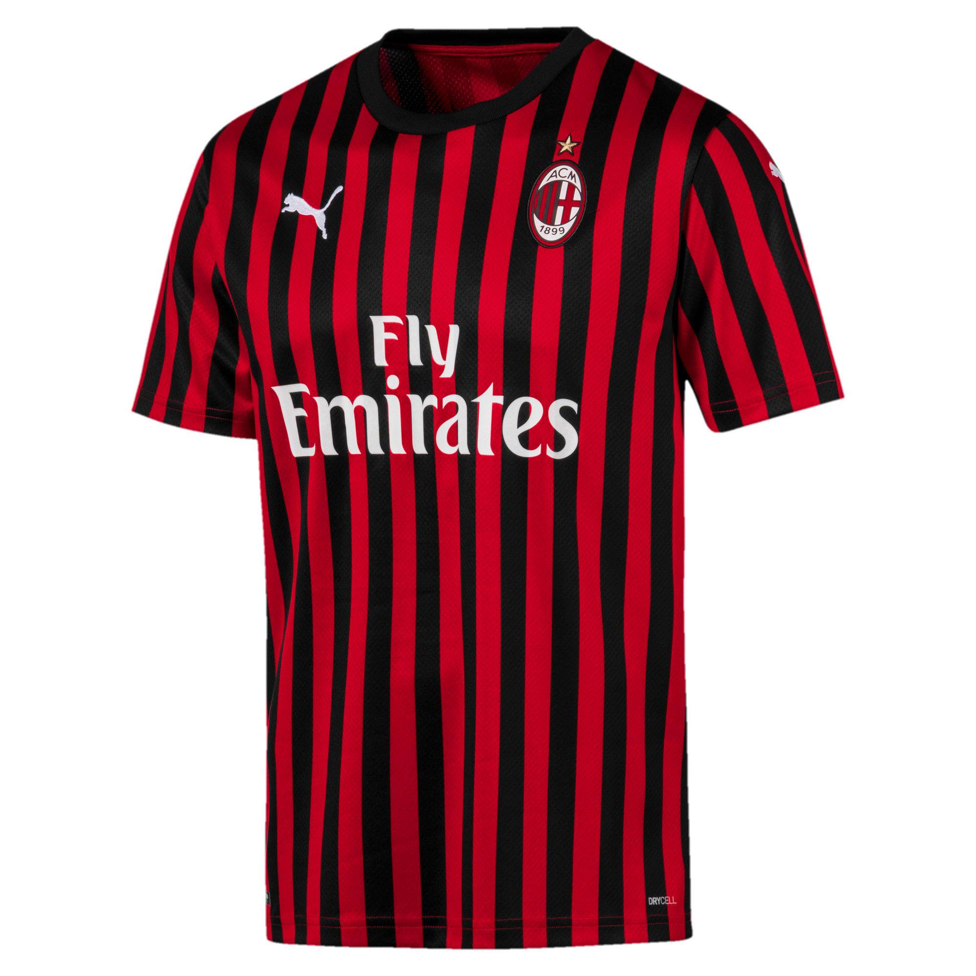 Thumbnail 4 of AC Milan Men's Home Replica Jersey, Tango Red -Puma Black, medium