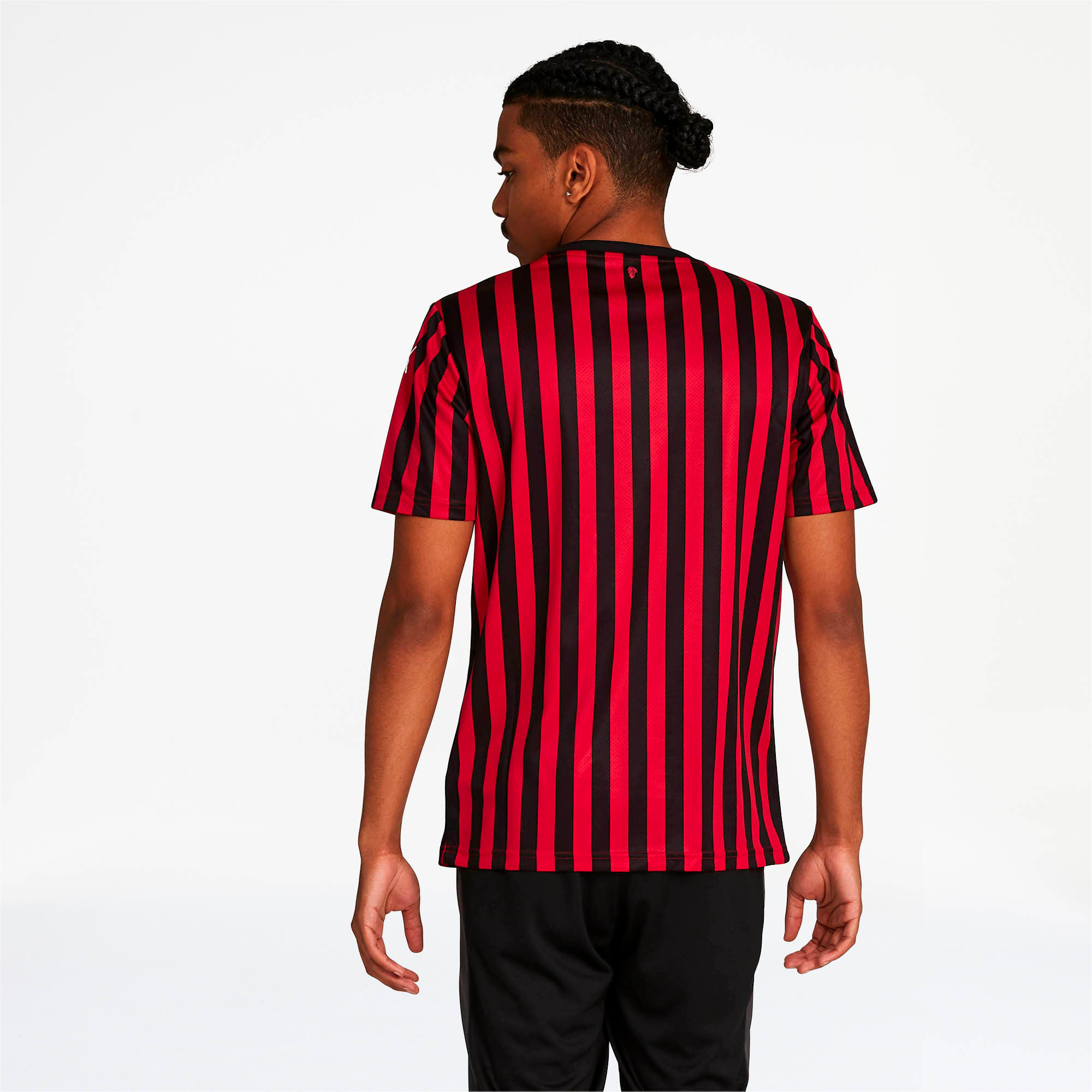 Thumbnail 2 of AC Milan Men's Home Replica Jersey, Tango Red -Puma Black, medium