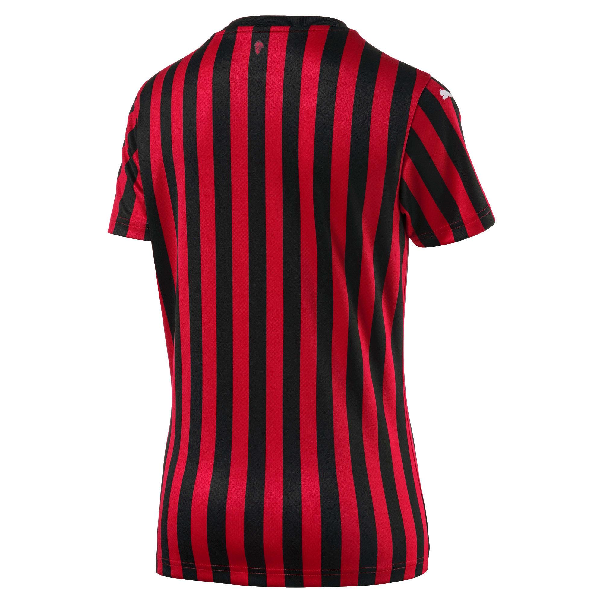 Thumbnail 2 of AC Milan Home Replica Short Sleeve Women's Jersey, Tango Red -Puma Black, medium