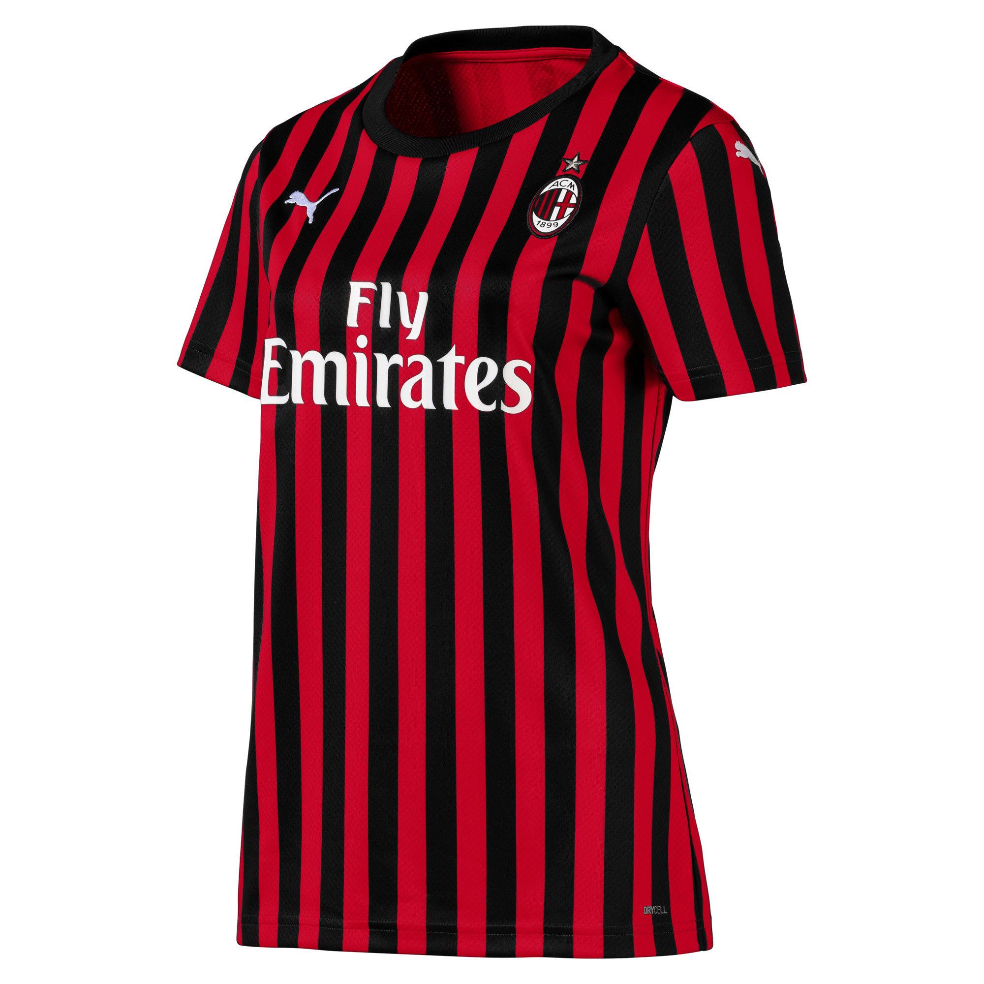 Thumbnail 1 of AC Milan Home Replica Short Sleeve Women's Jersey, Tango Red -Puma Black, medium