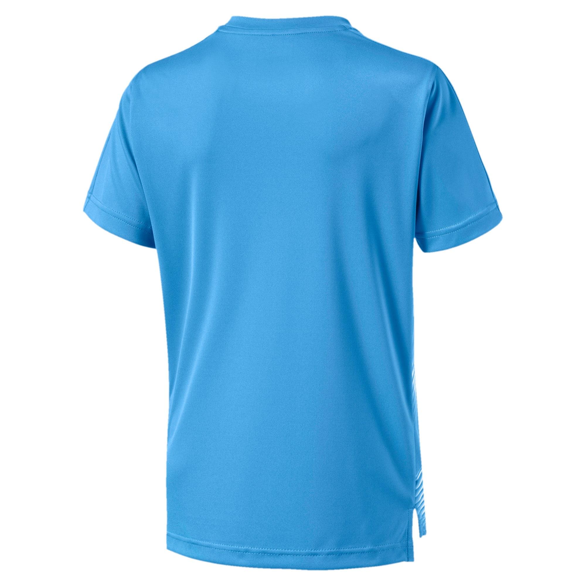 Thumbnail 2 of Olympique de Marseille Stadium Boys' Jersey, Bleu Azur-Puma White, medium