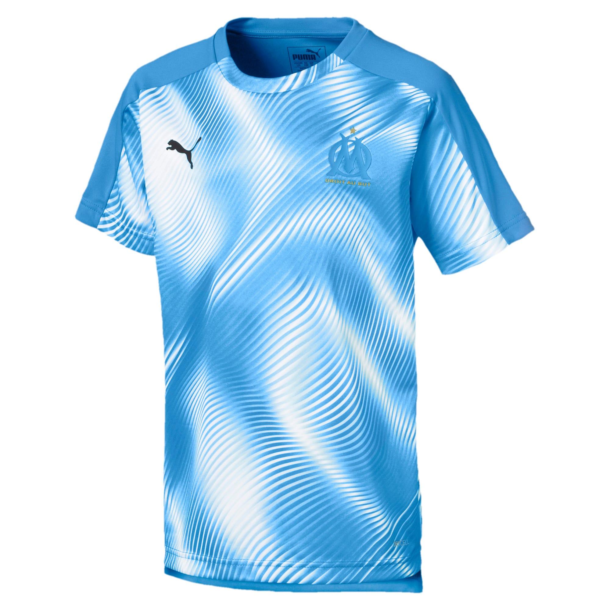 Thumbnail 1 of Olympique de Marseille Stadium Boys' Jersey, Bleu Azur-Puma White, medium