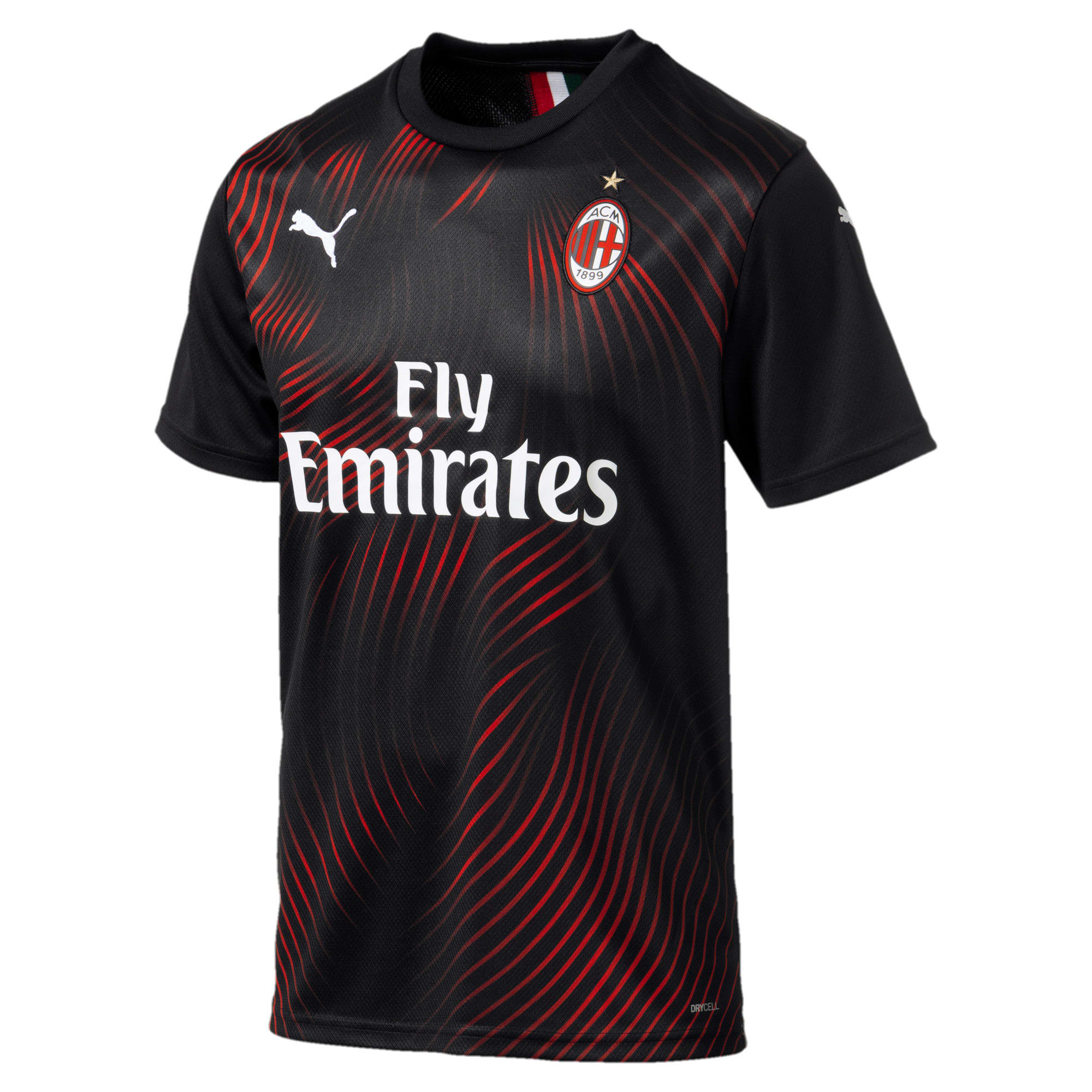 Thumbnail 4 of AC Milan Men's Third Replica Jersey, Puma Black-Tango Red, medium