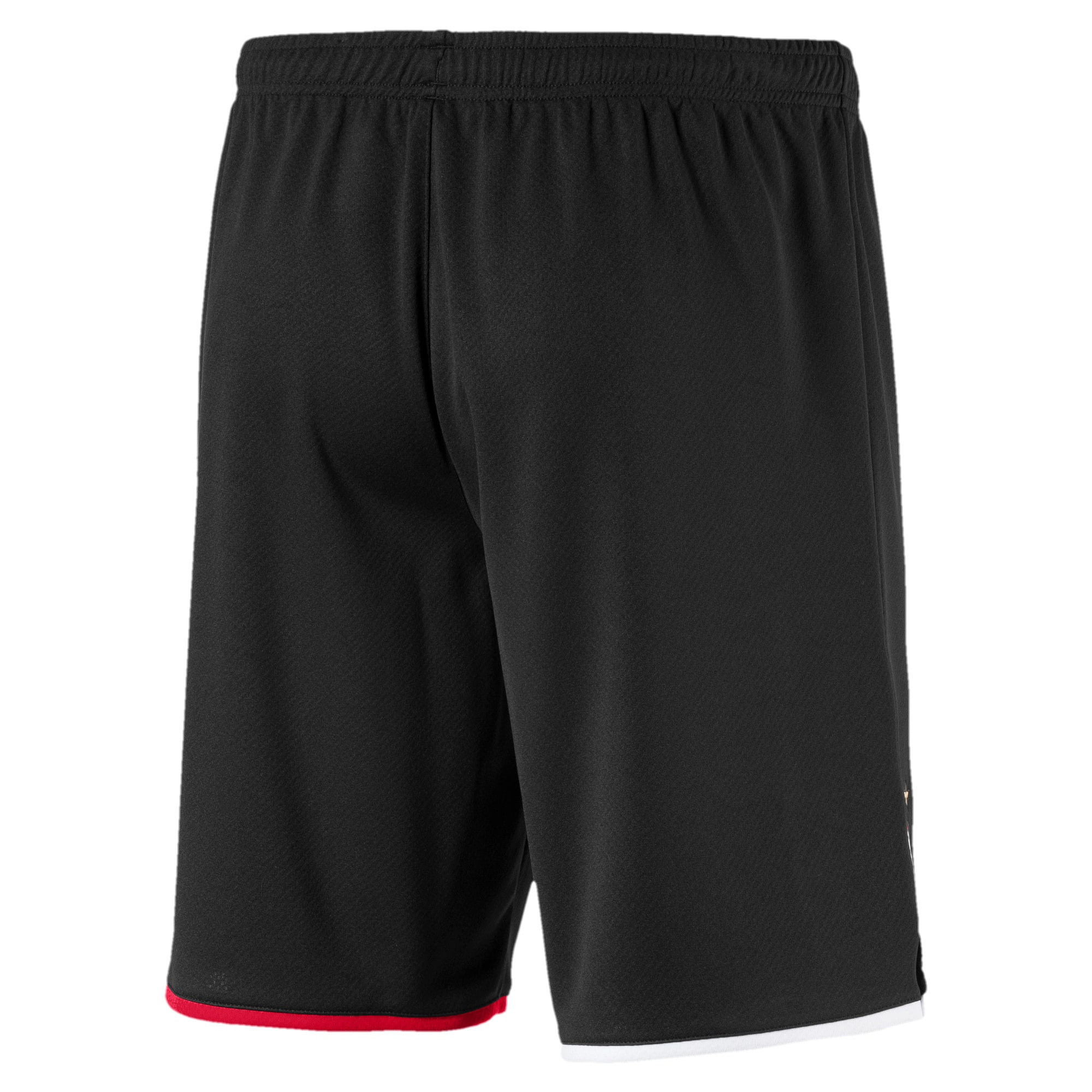 Thumbnail 2 of AC Milan Men's Away Replica Shorts, Puma Black-Tango Red, medium
