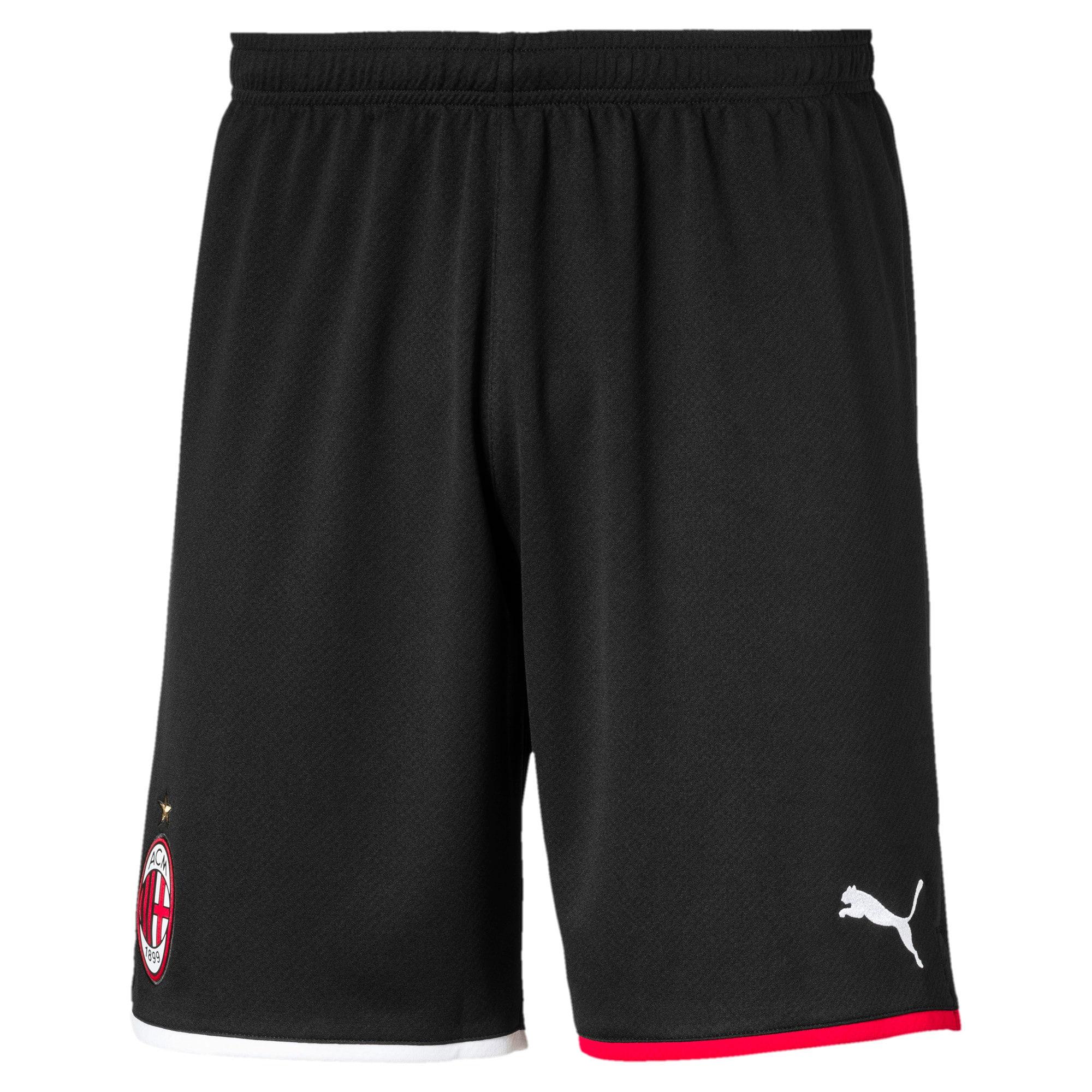 Thumbnail 1 of AC Milan Men's Away Replica Shorts, Puma Black-Tango Red, medium