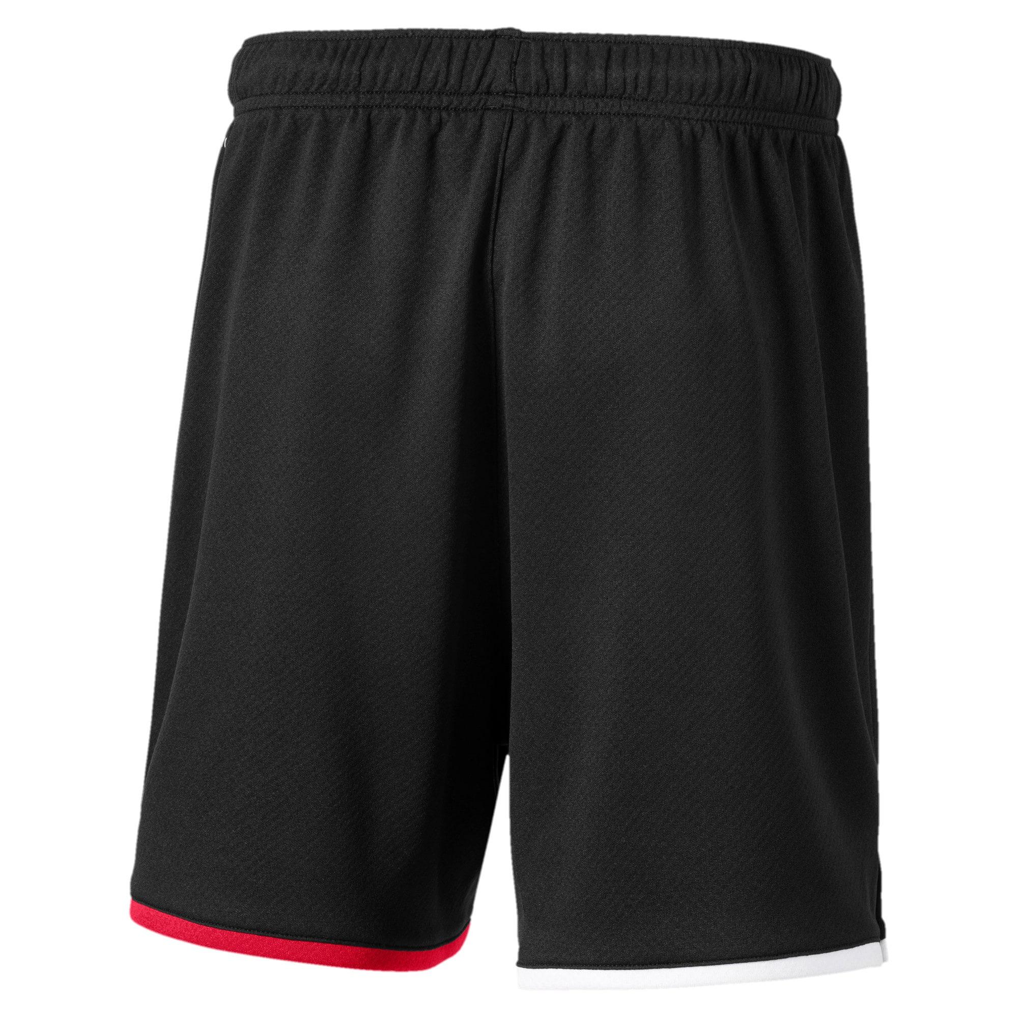 Thumbnail 2 of AC Milan Replica Kids' Shorts, Puma Black-Tango Red, medium