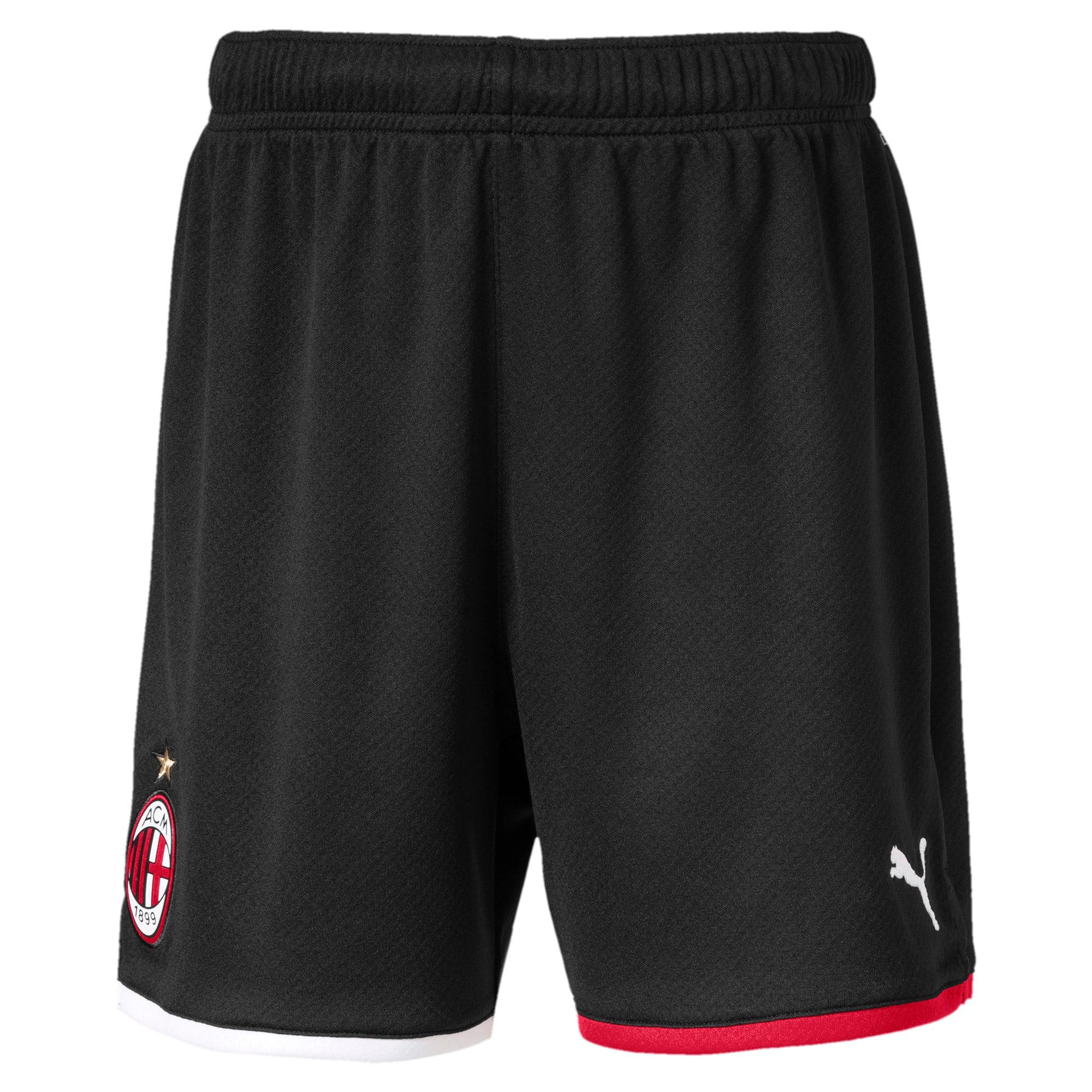 Thumbnail 1 of AC Milan Replica Kids' Shorts, Puma Black-Tango Red, medium