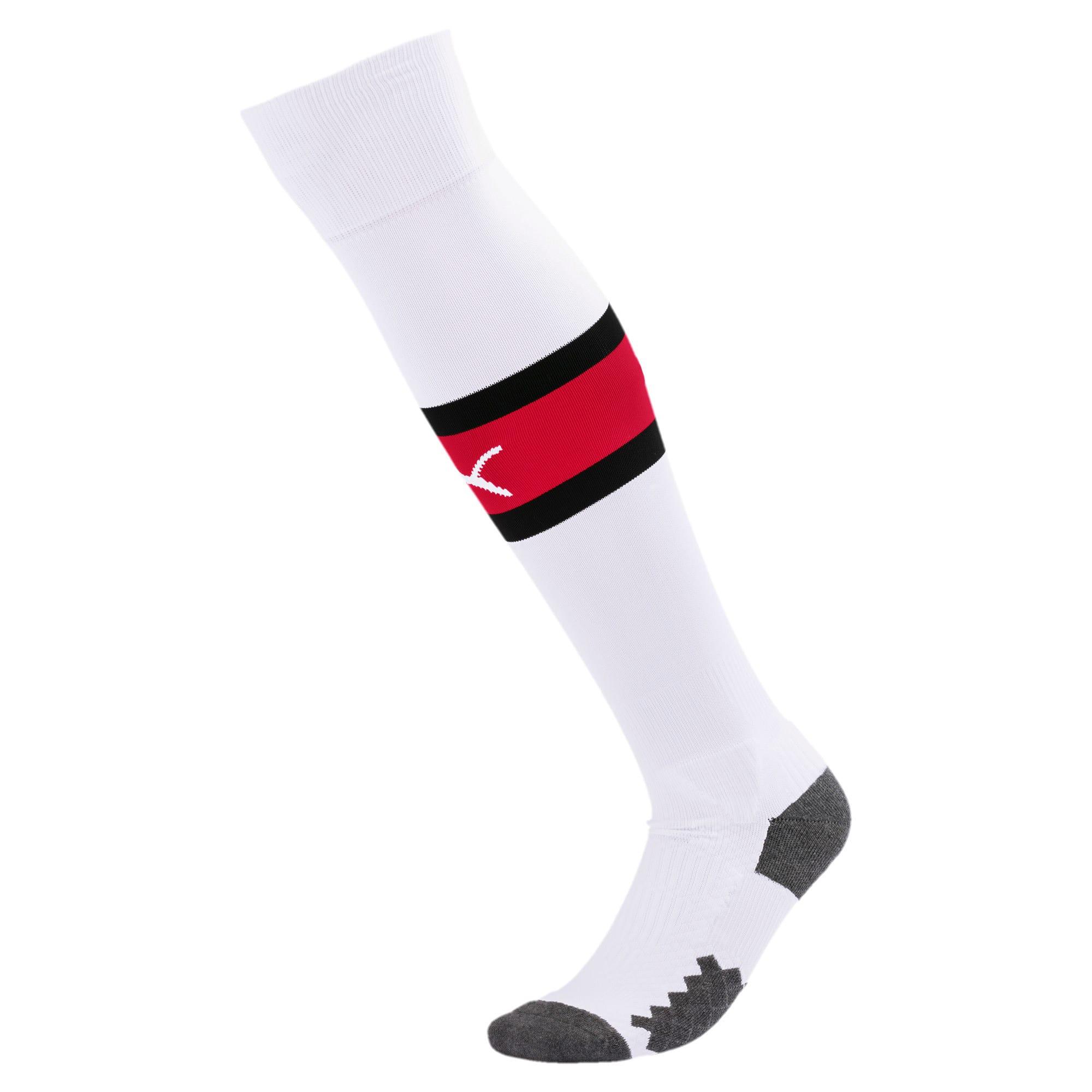 Thumbnail 1 of AC Milan Men's Band Socks, Puma White-Tango Red, medium