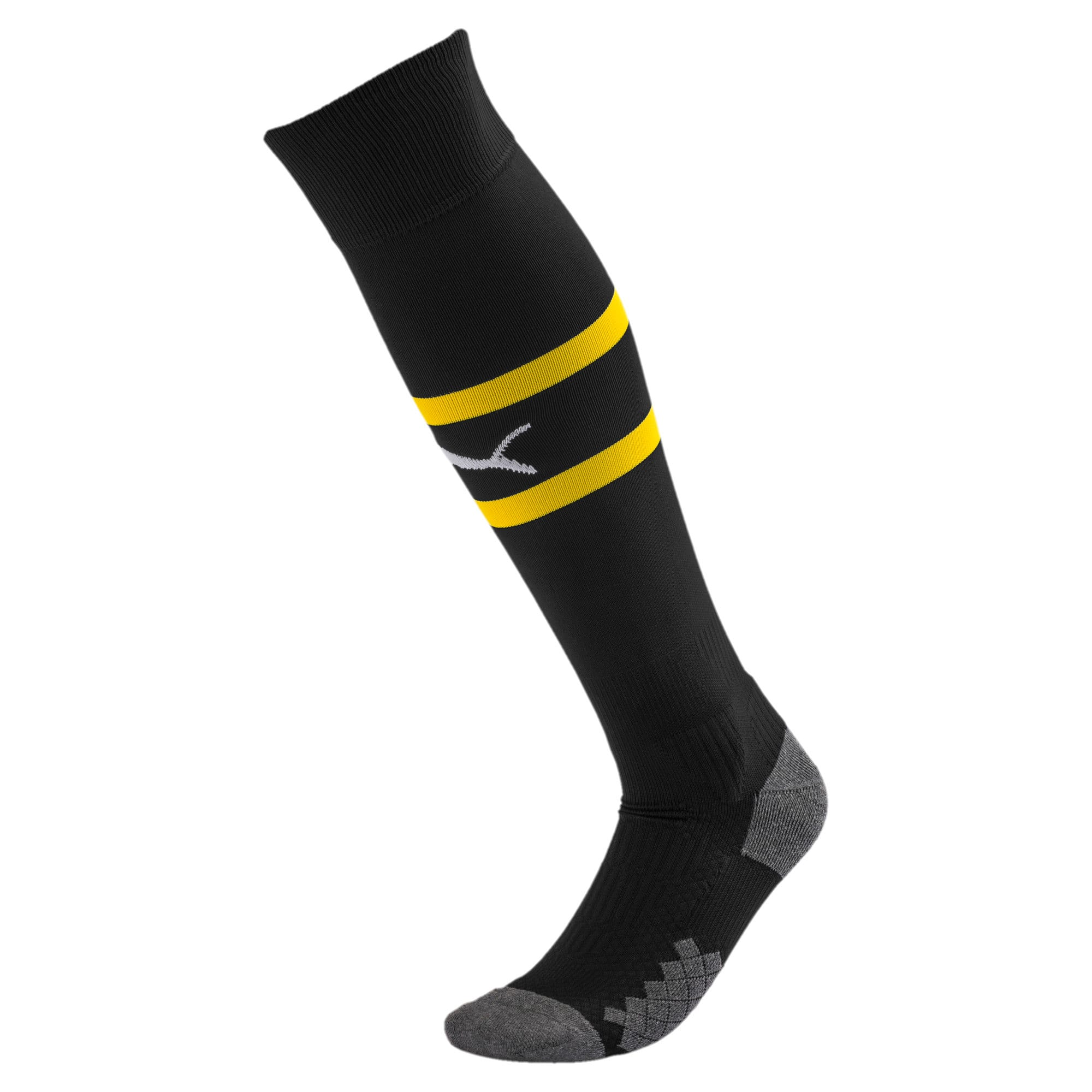 Thumbnail 1 of AC Milan Men's Band Socks, Puma Black-Cyber Yellow, medium