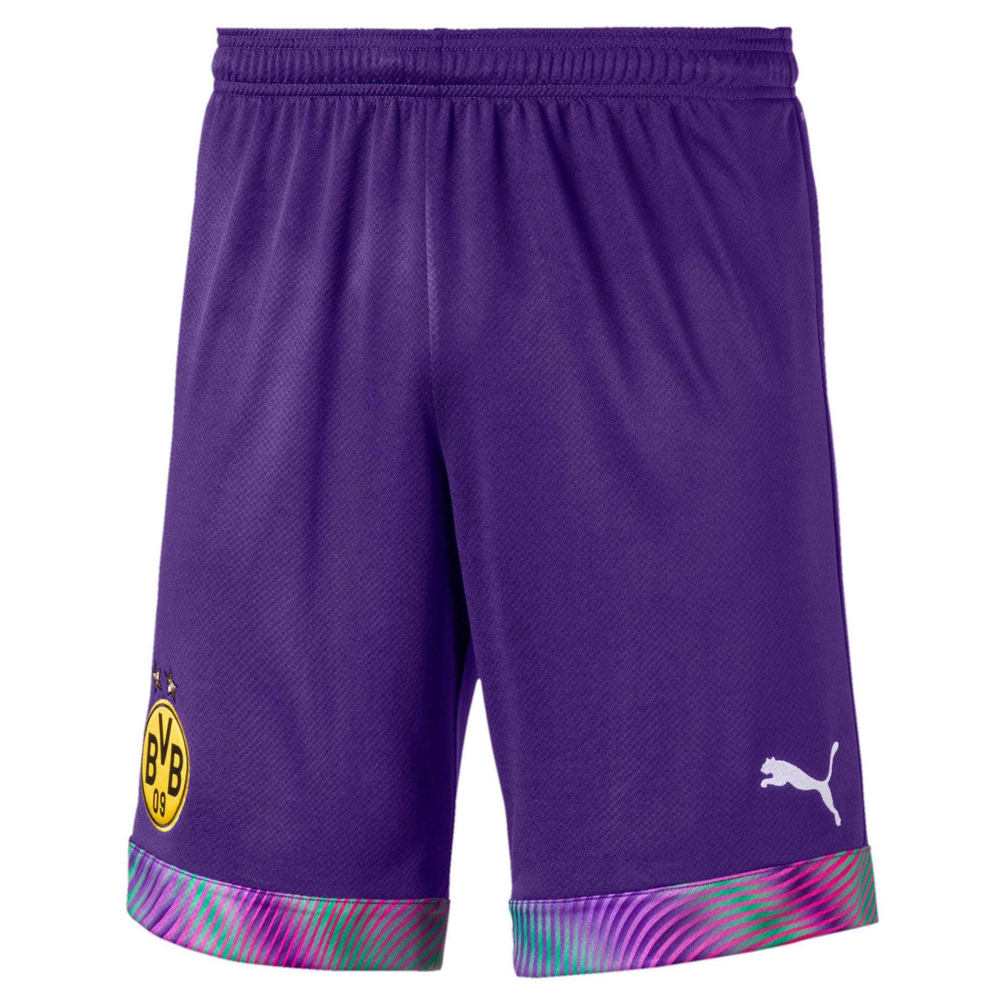 Thumbnail 1 of BVB Men's Replica Goalkeeper Shorts, Prism Violet, medium