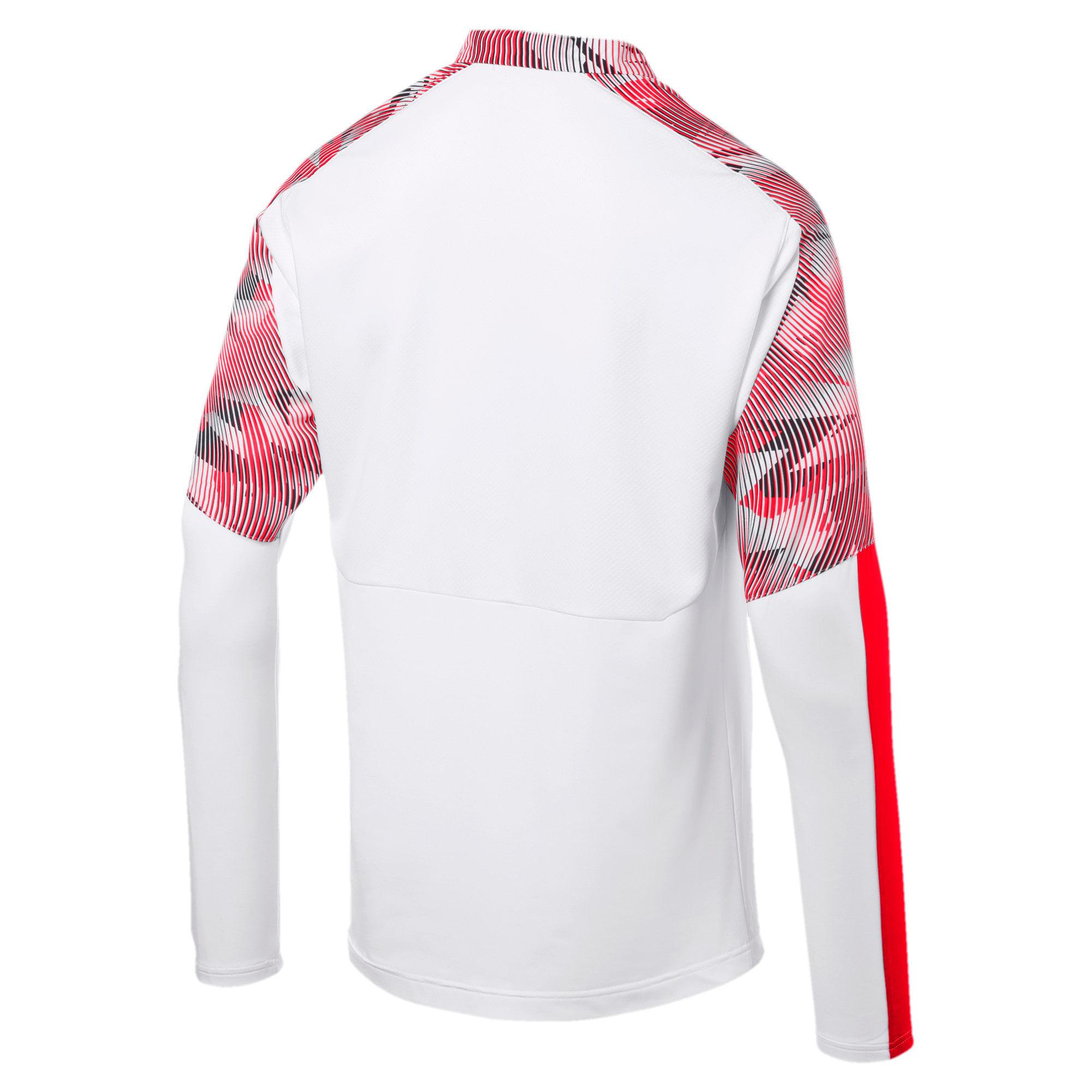 Thumbnail 5 of Chivas Men's Quarter Zip Top, Puma White-Puma Red, medium