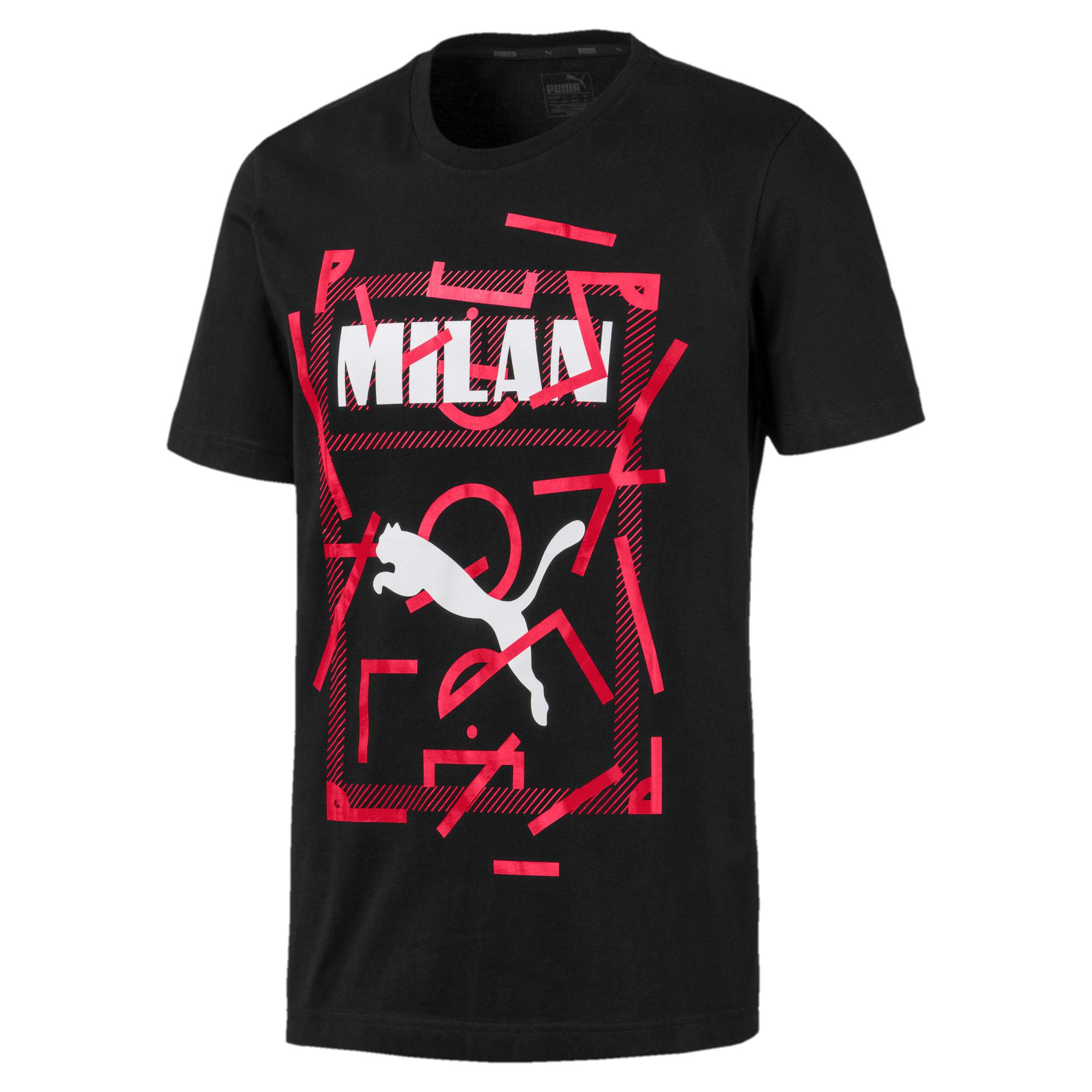 Miniatura 4 de Camiseta AC Milan DNA para hombre, Cotton Black-tango red, mediano