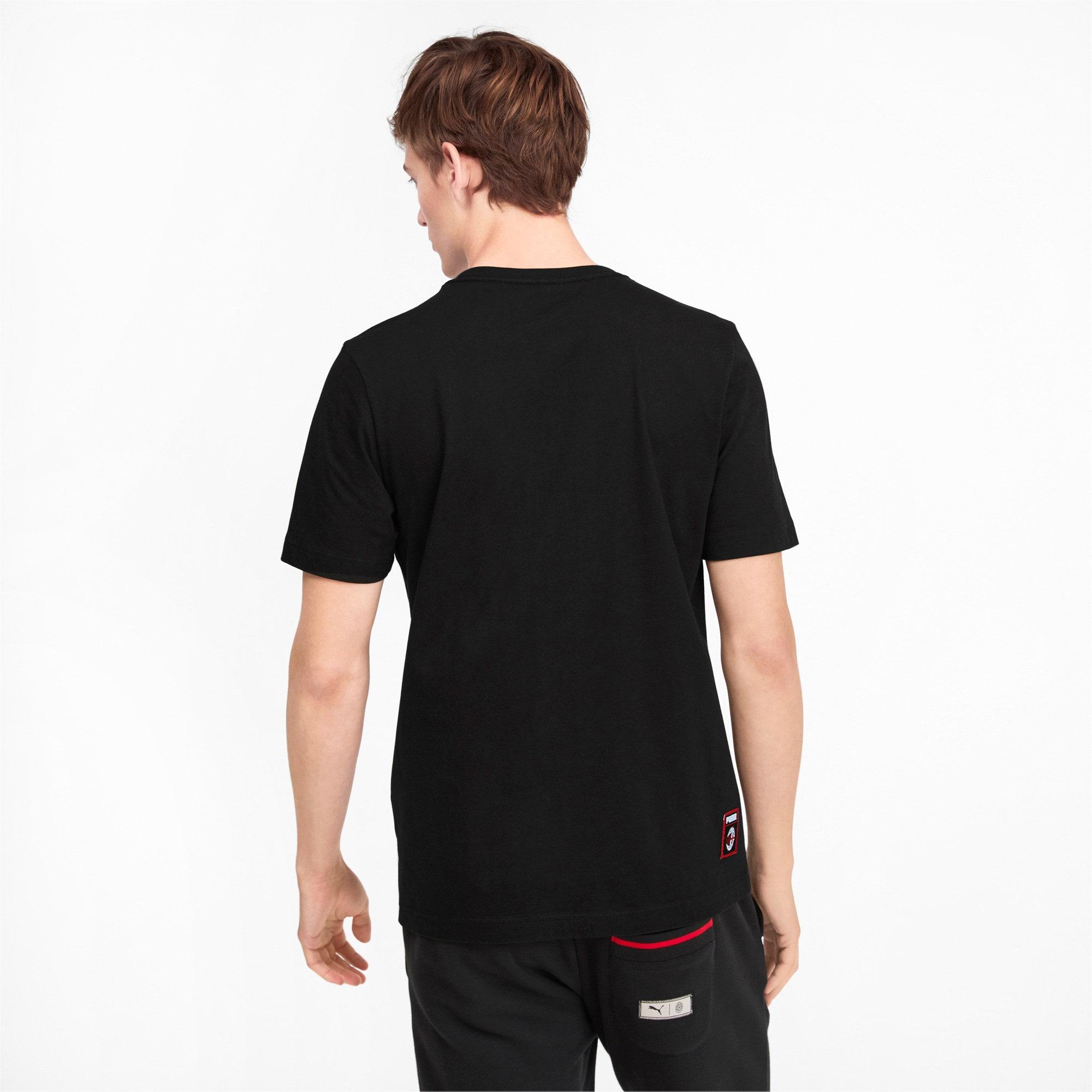 Miniatura 2 de Camiseta AC Milan DNA para hombre, Cotton Black-tango red, mediano