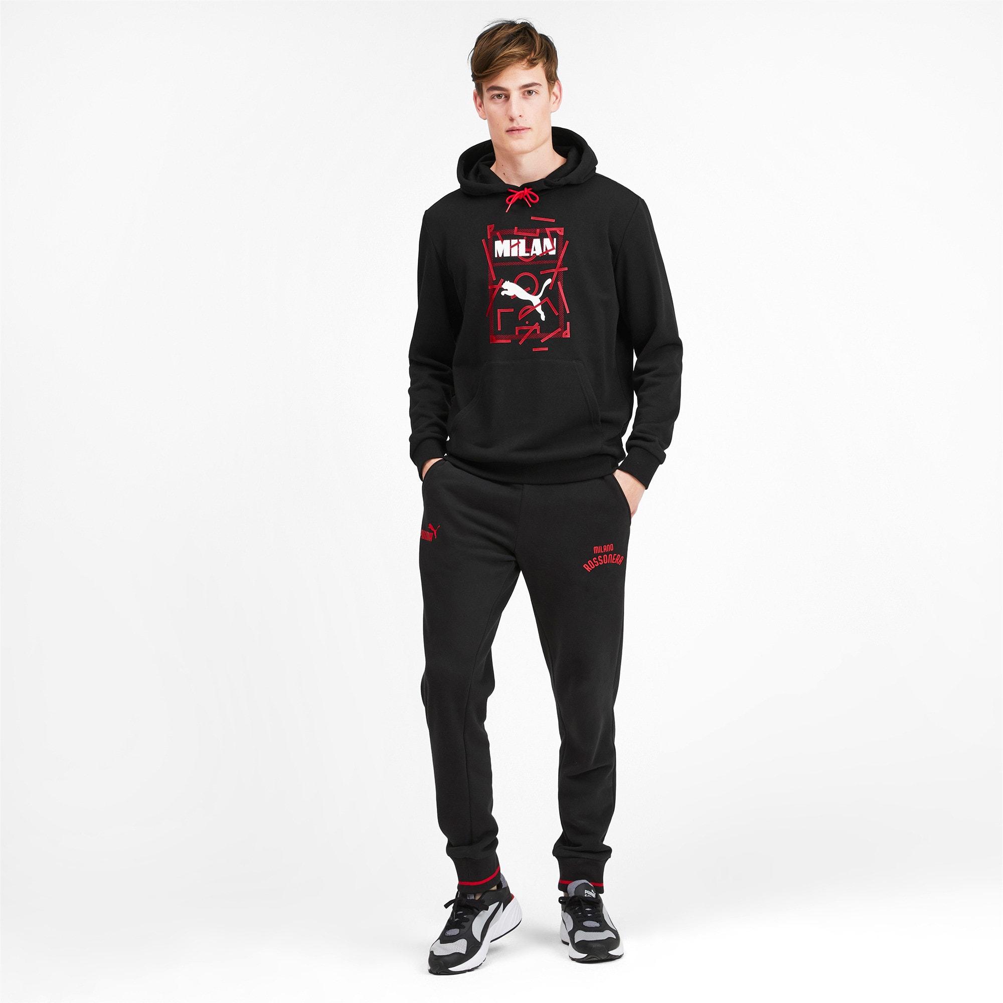 Miniatura 4 de Chaqueta con capucha AC Milan DNA para hombre, Puma Black-Tango Red, mediano