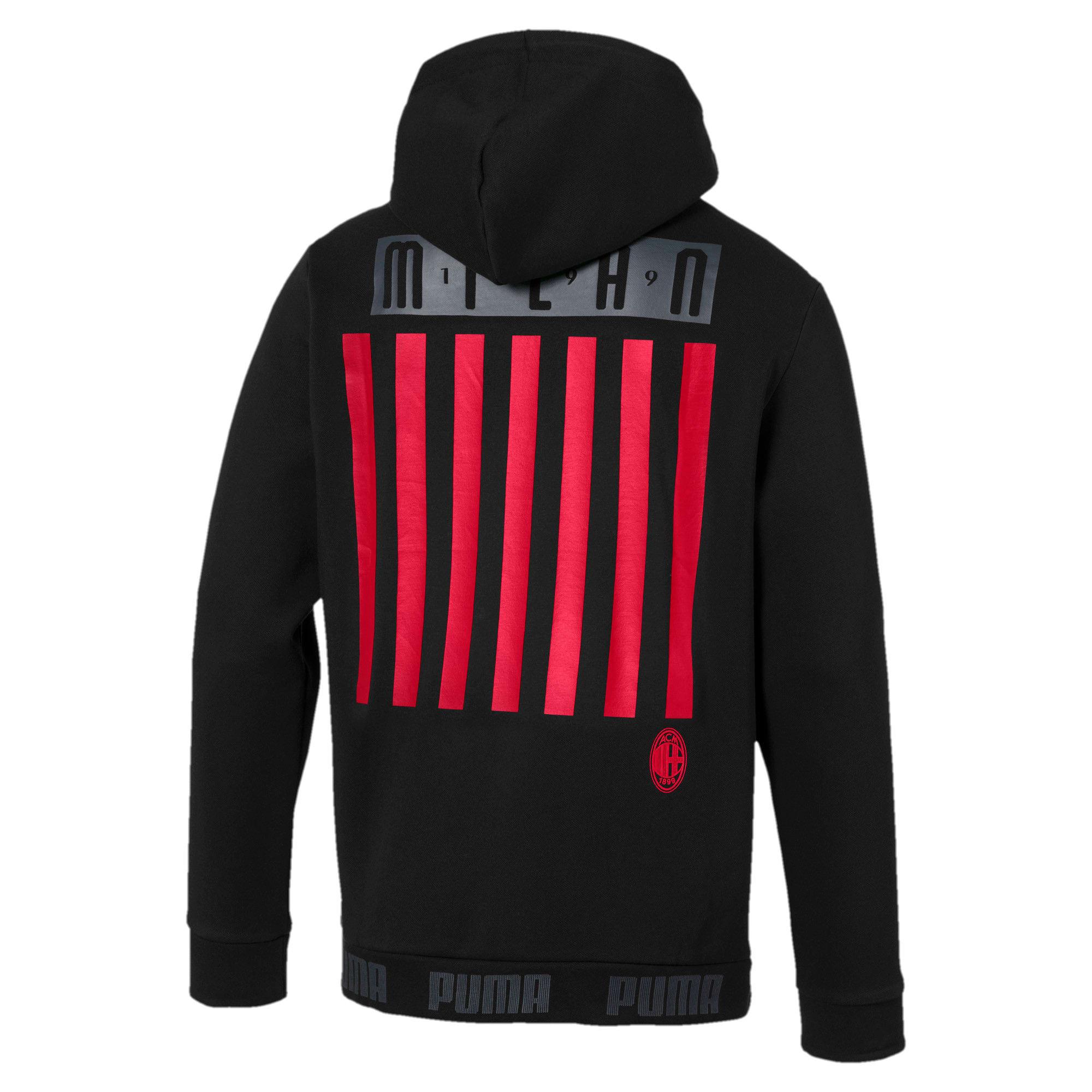 Thumbnail 5 of AC Milan hoodie voor heren, Puma Black-Tango Red, medium