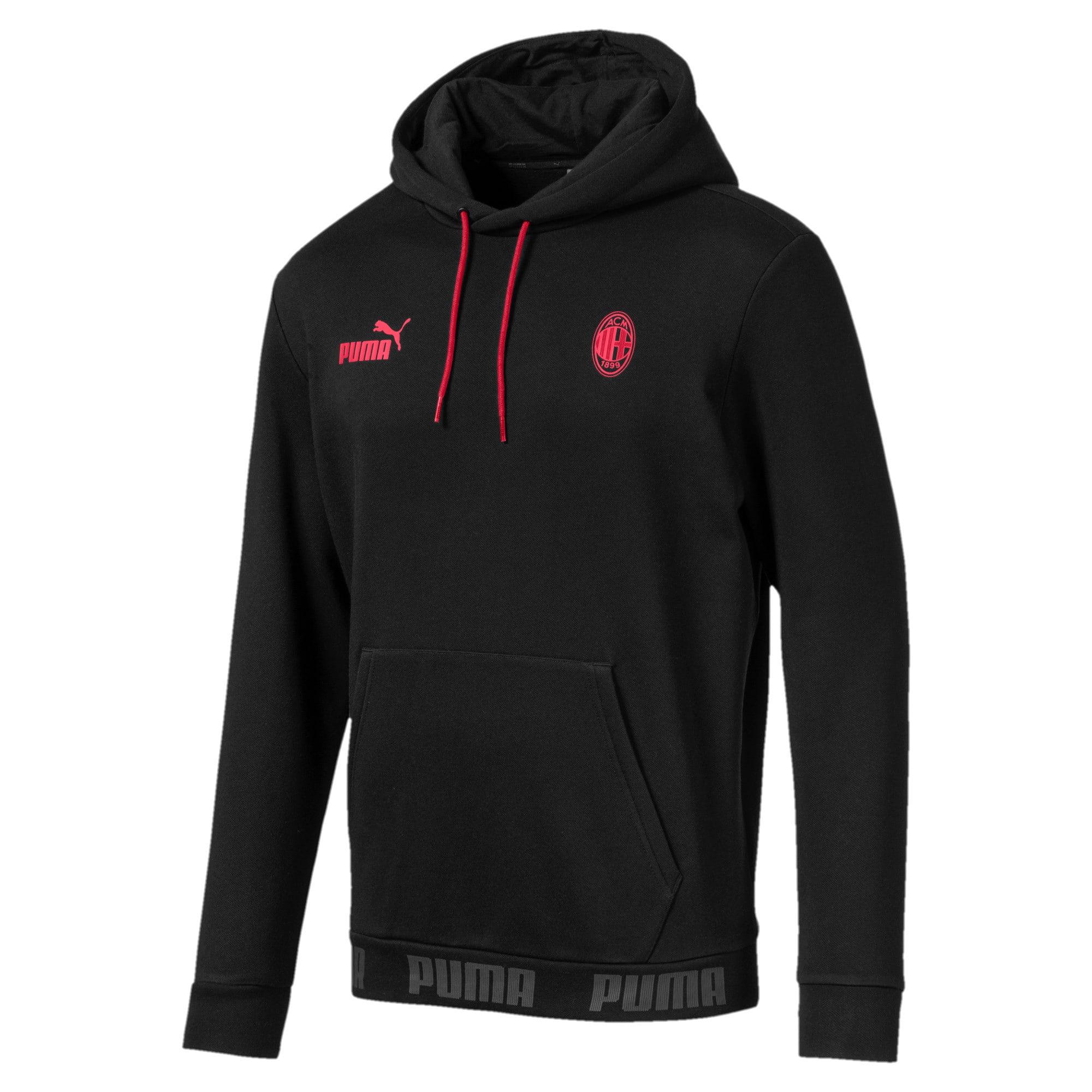 Thumbnail 4 of AC Milan hoodie voor heren, Puma Black-Tango Red, medium