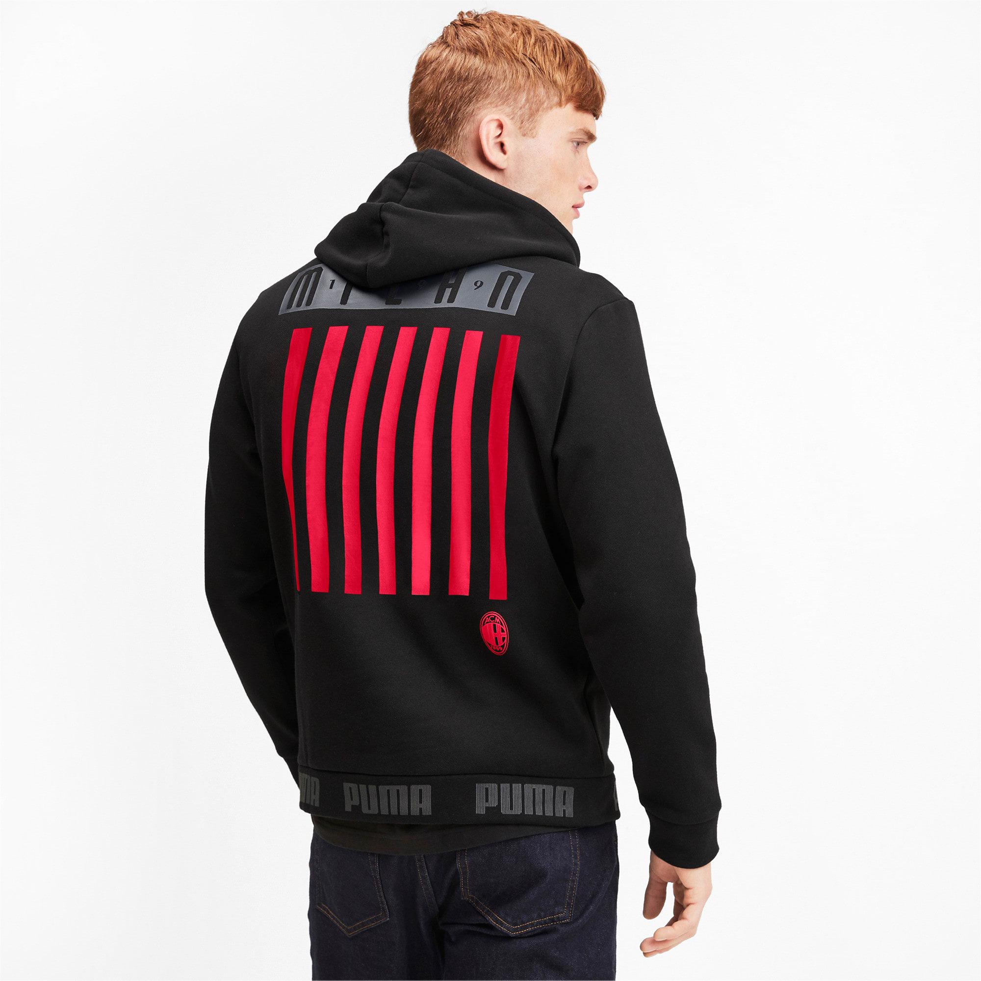 Thumbnail 2 of AC Milan hoodie voor heren, Puma Black-Tango Red, medium