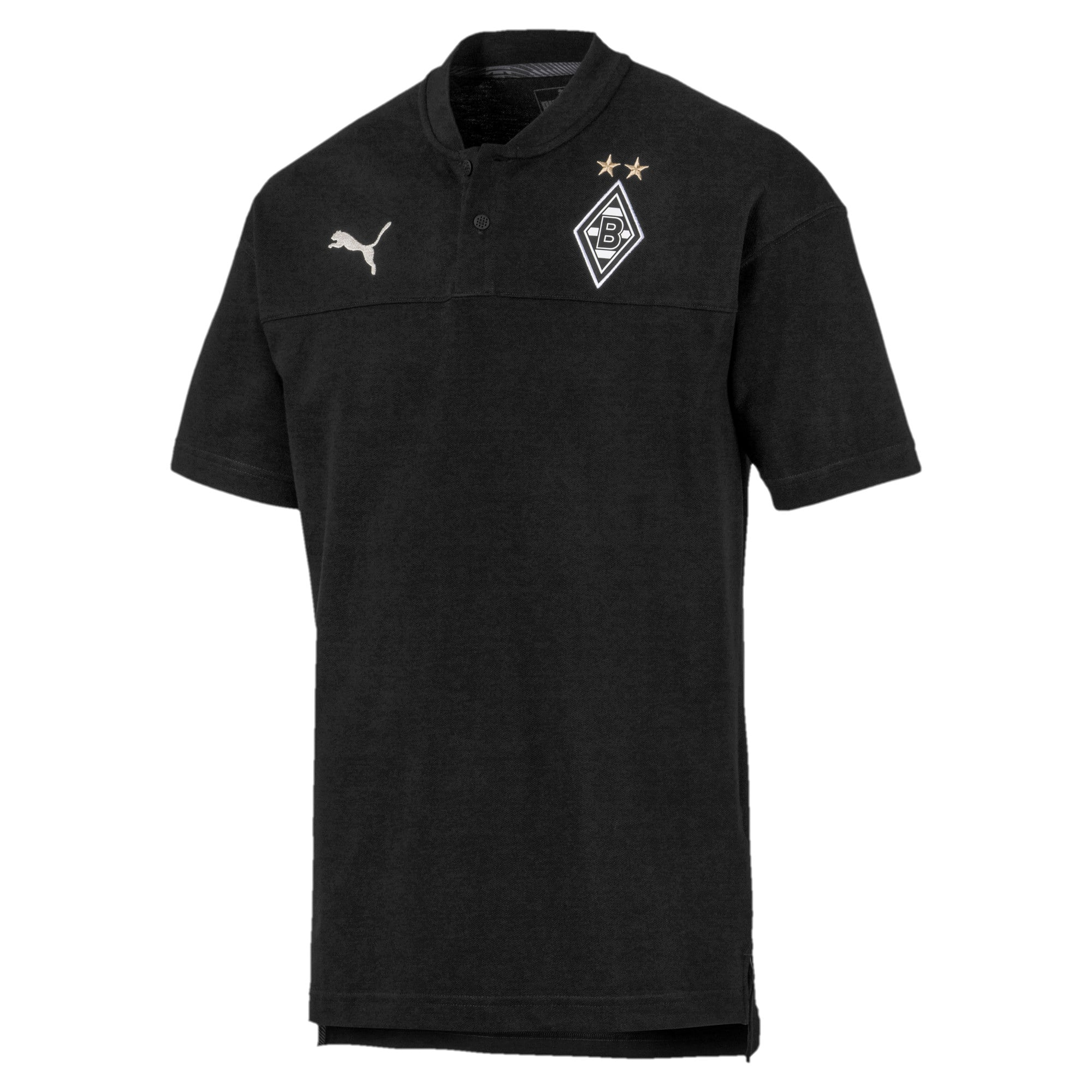Thumbnail 4 of Borussia Mönchengladbach Casuals poloshirt voor heren, Puma Black-Phantom Black, medium