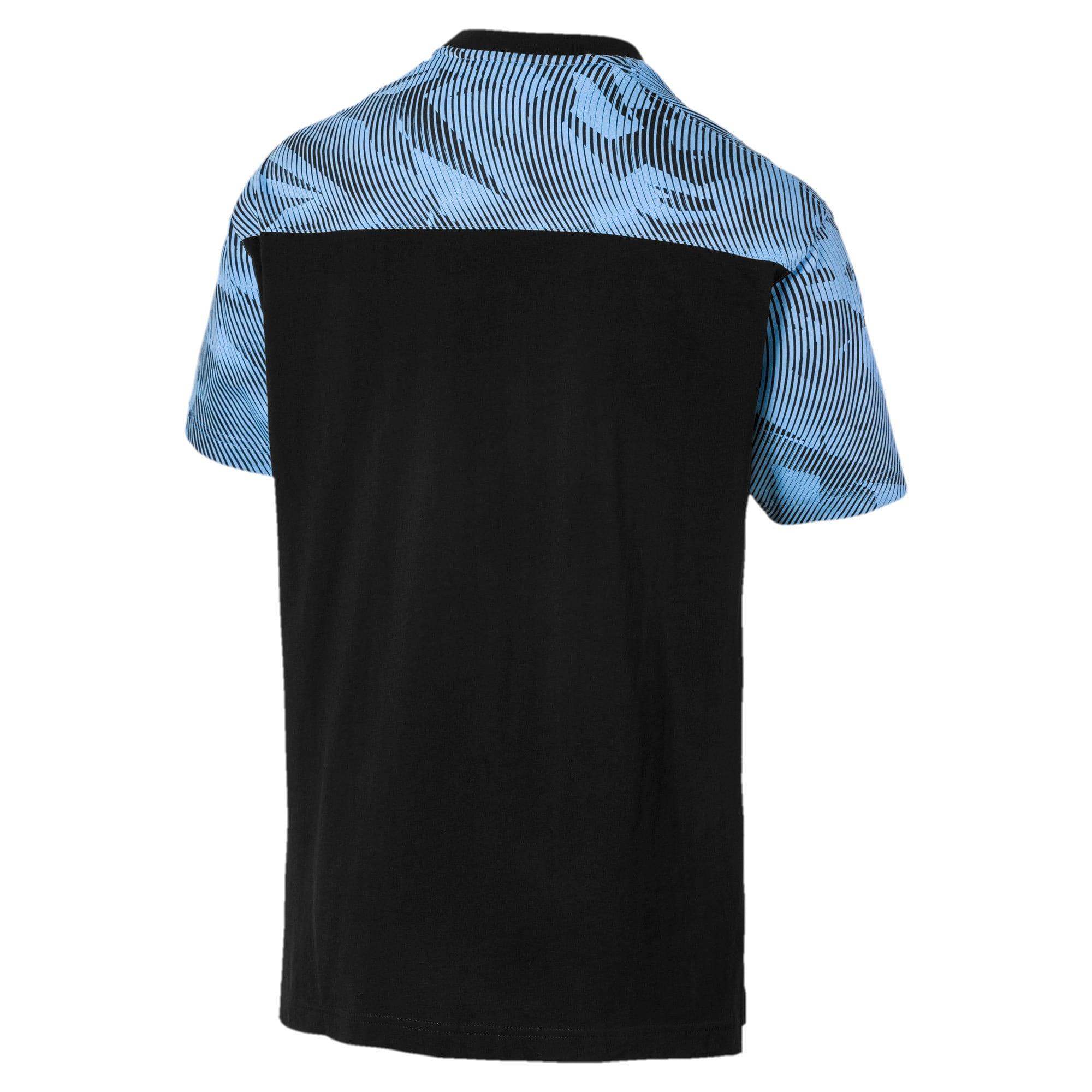 Thumbnail 2 of Man City Casuals Men's Tee, Puma Black-Team Light Blue, medium